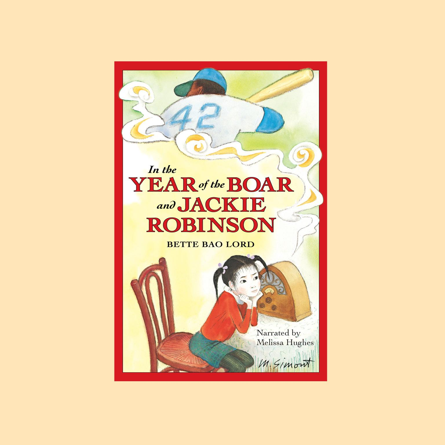 Printable In the Year of the Boar and Jackie Robinson Audiobook Cover Art