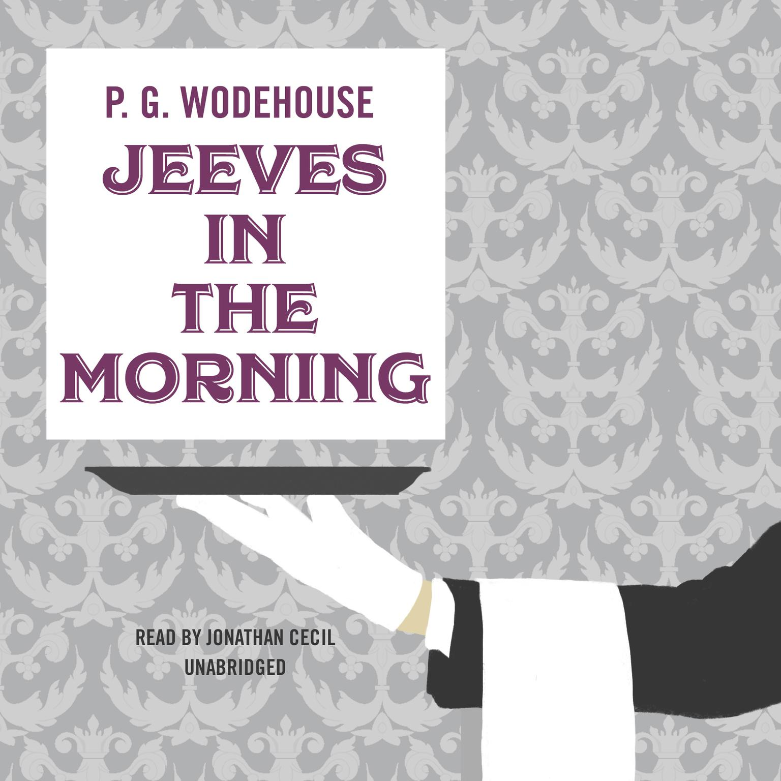 Printable Jeeves in the Morning Audiobook Cover Art