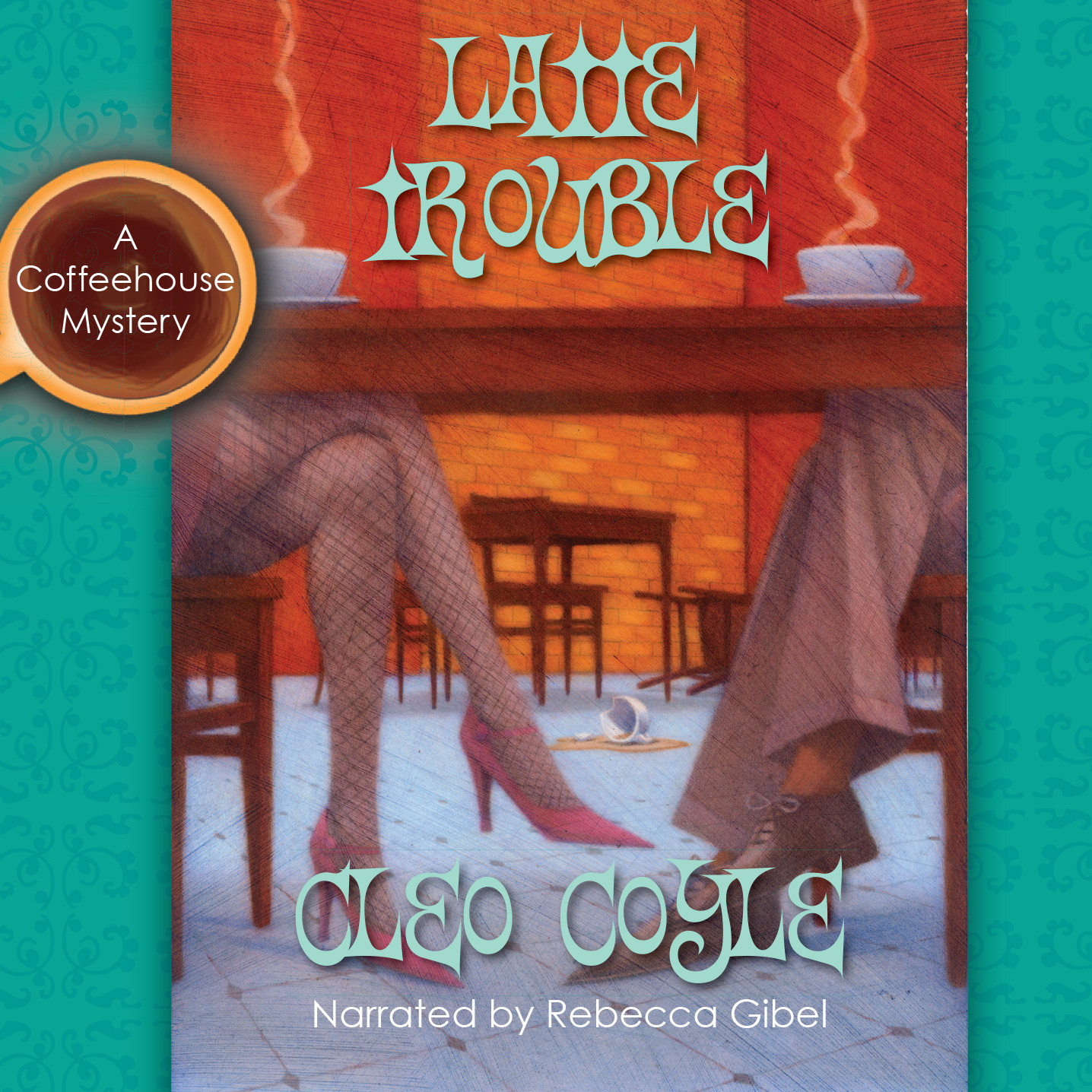 Printable Latte Trouble Audiobook Cover Art