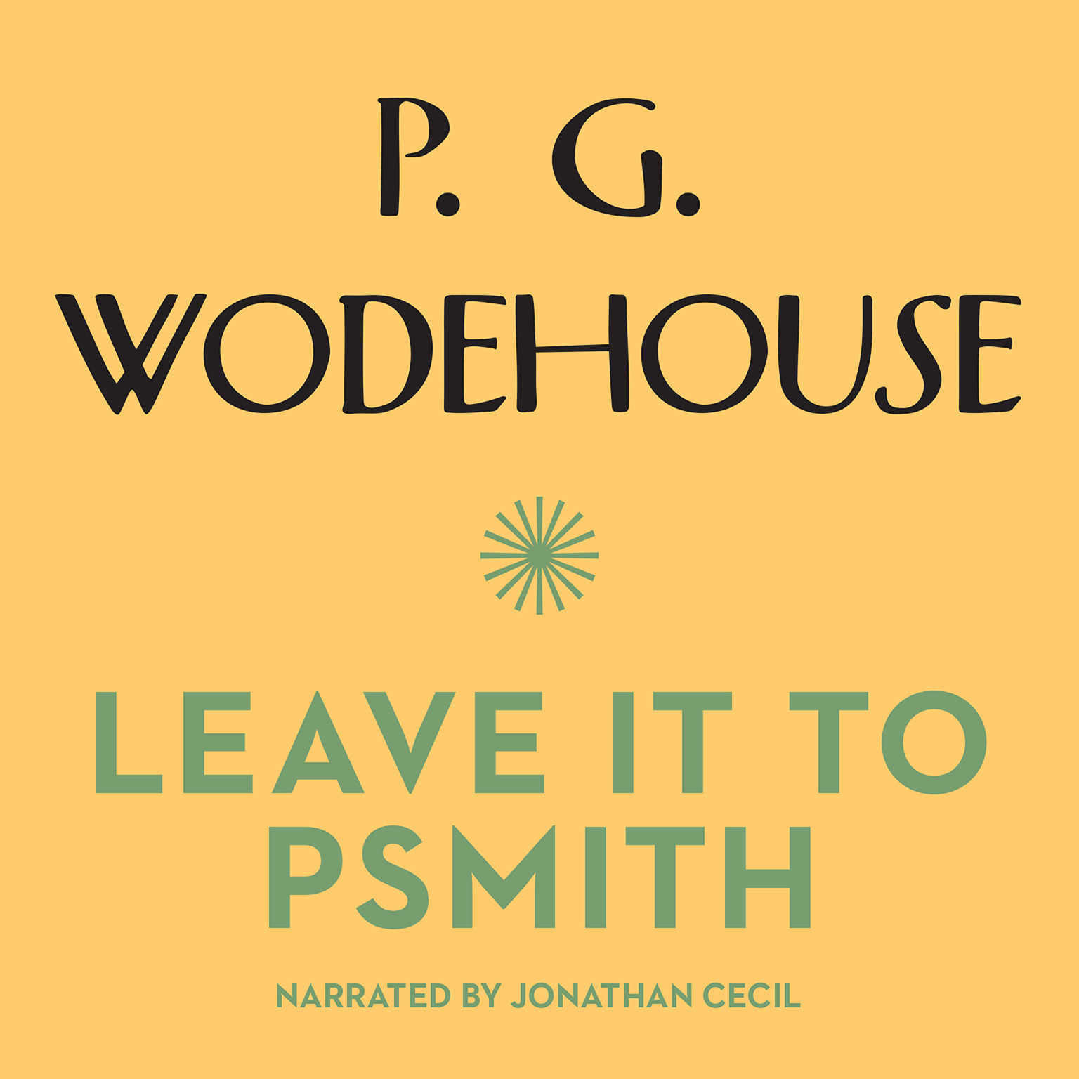Printable Leave It to Psmith Audiobook Cover Art