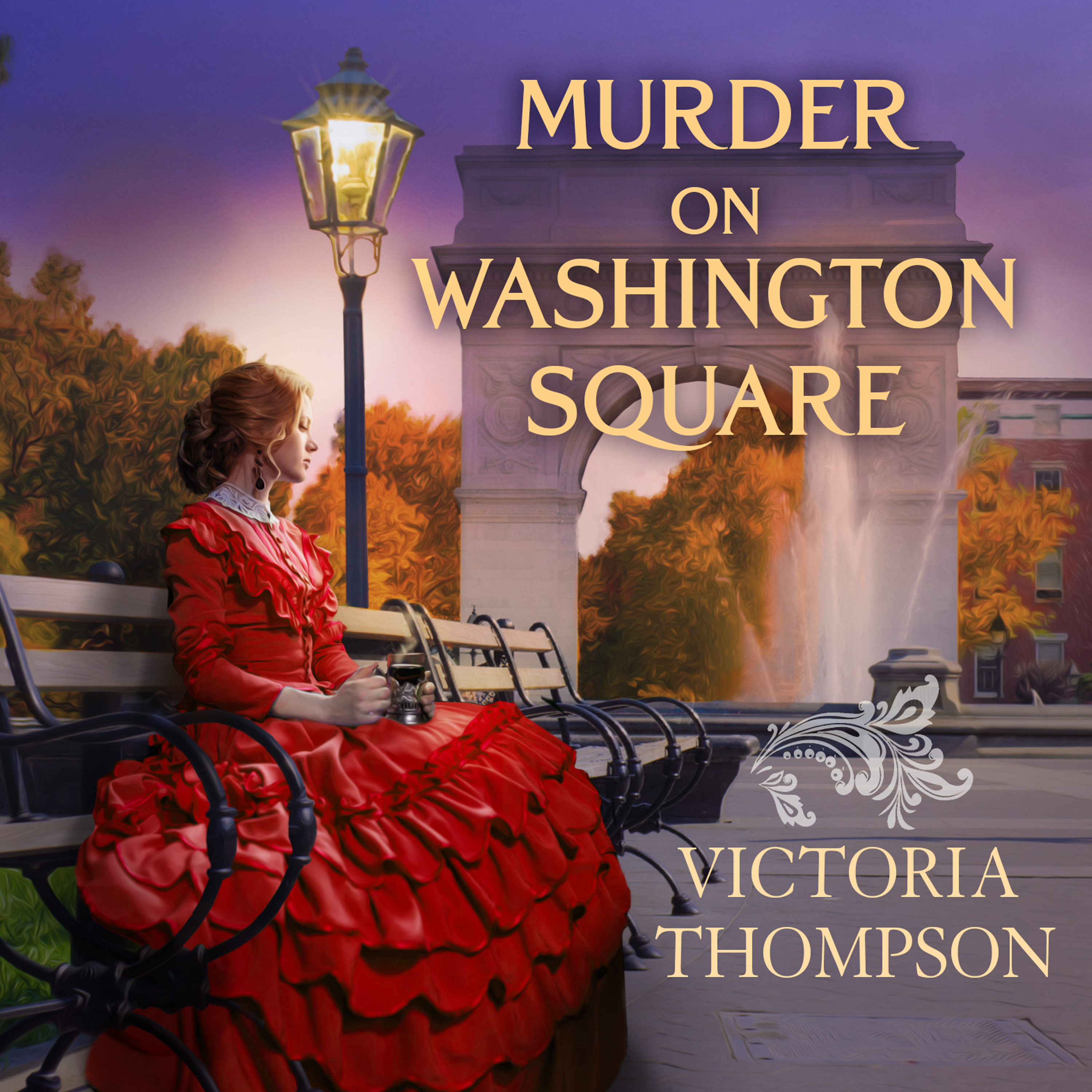 Printable Murder on Washington Square Audiobook Cover Art