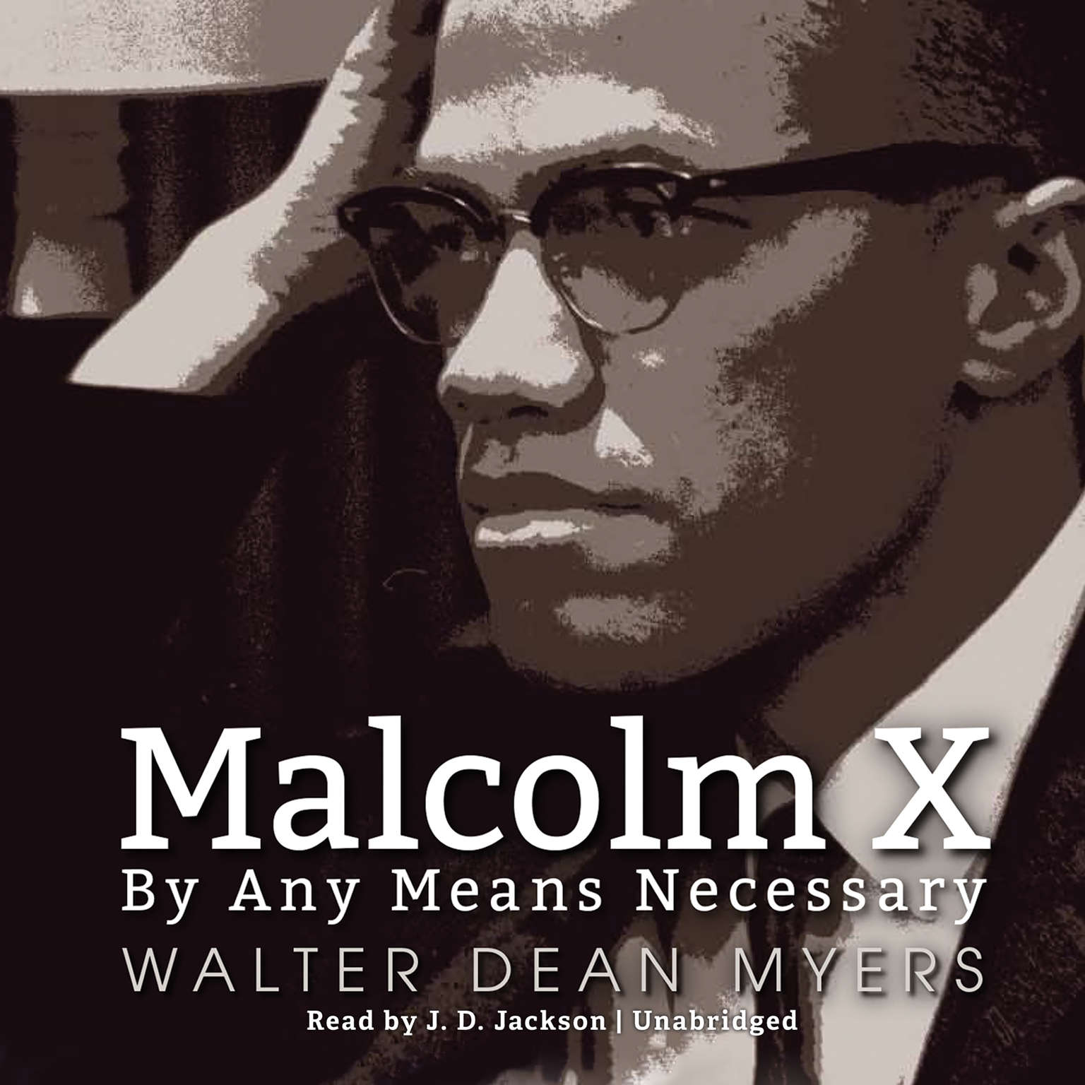 Printable Malcolm X: By Any Means Necessary Audiobook Cover Art