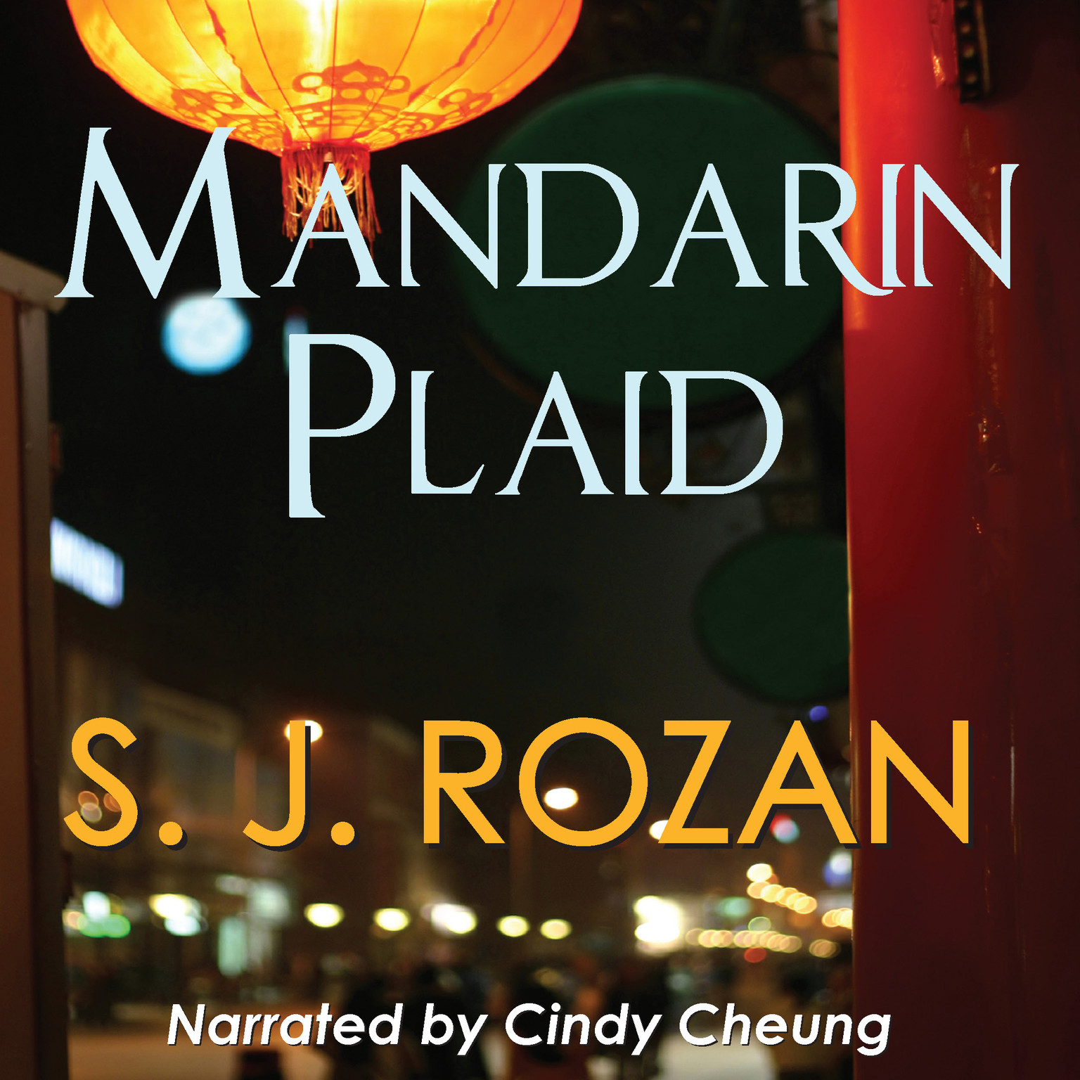 Printable Mandarin Plaid Audiobook Cover Art