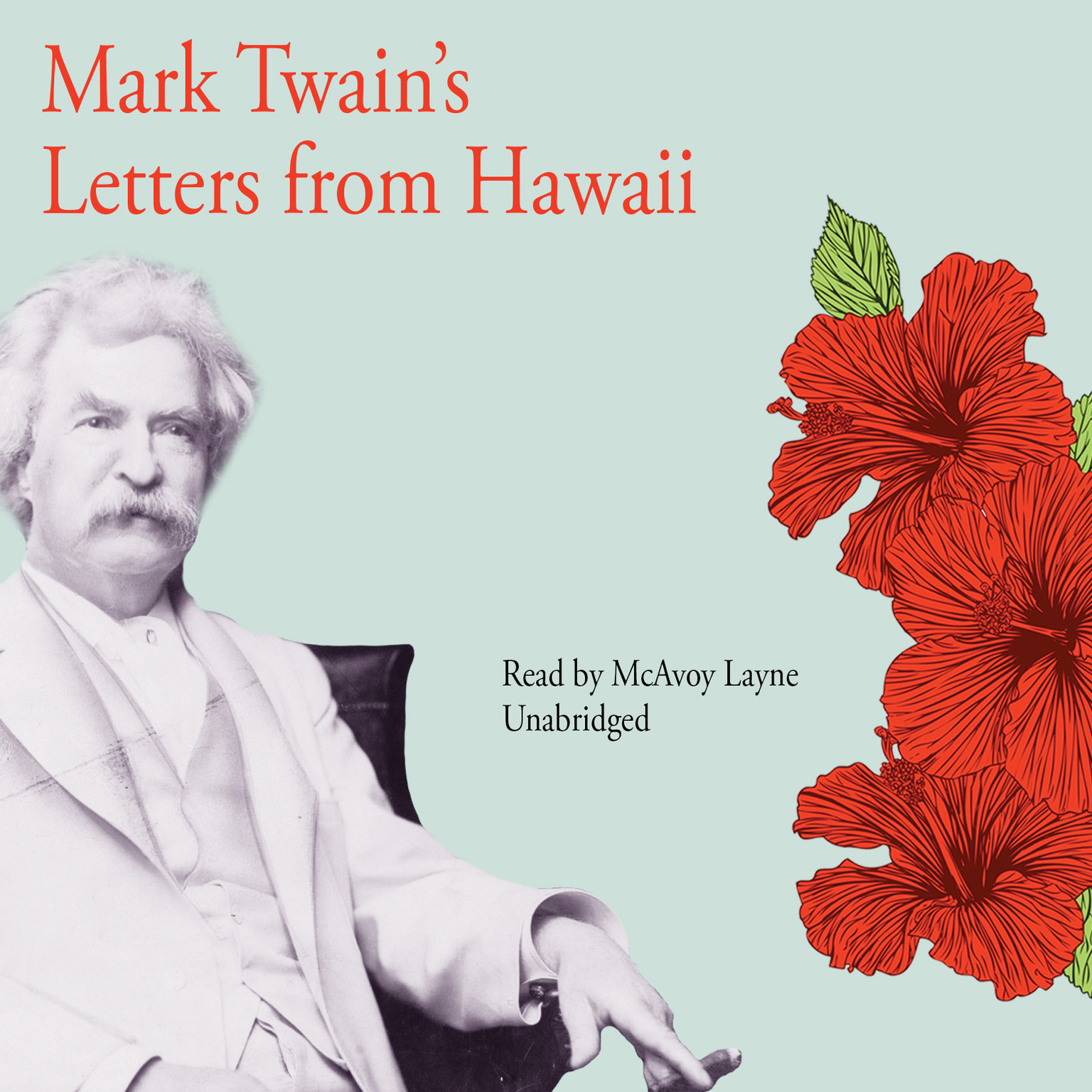 Printable Mark Twain's Letters from Hawaii Audiobook Cover Art