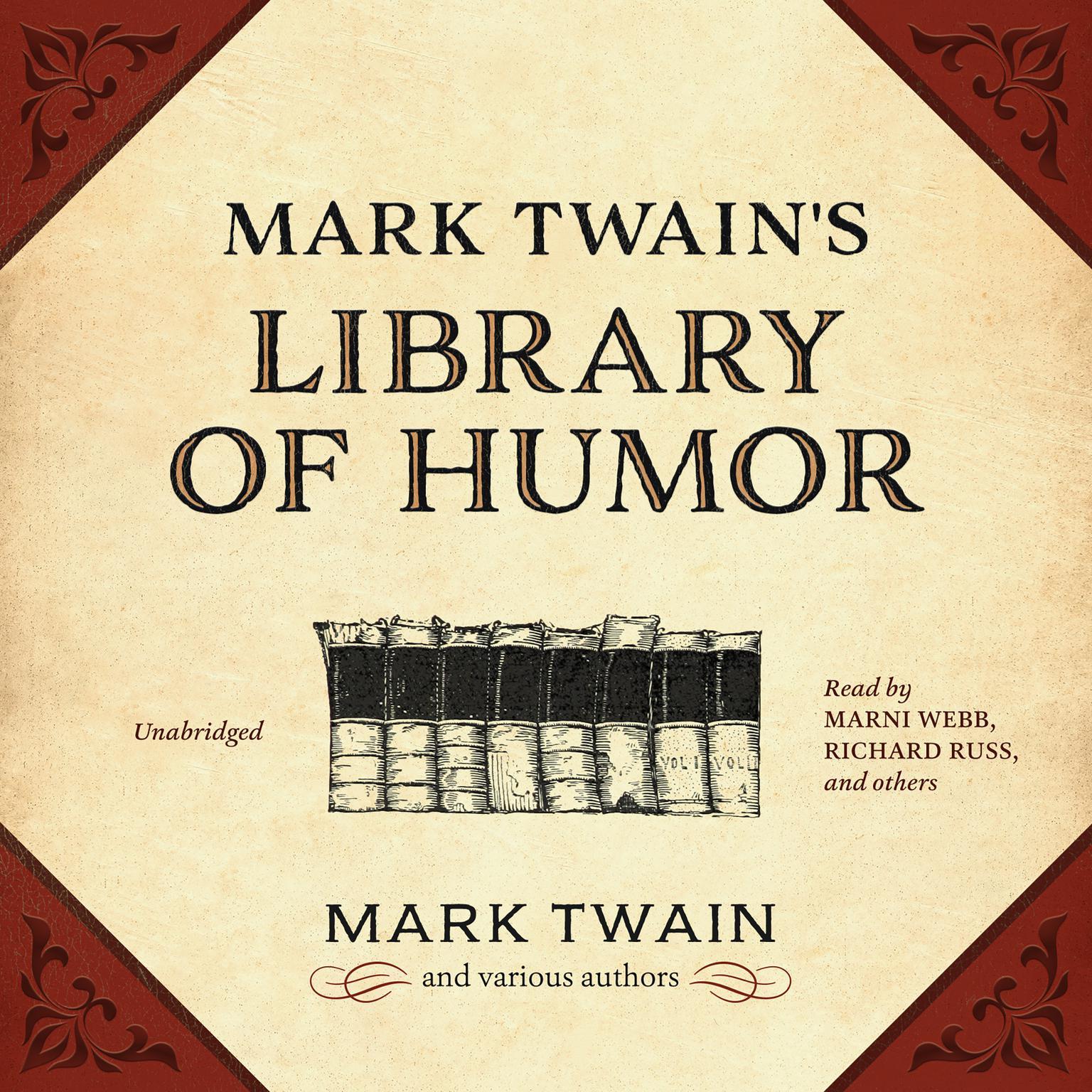 Printable Mark Twain's Library of Humor Audiobook Cover Art