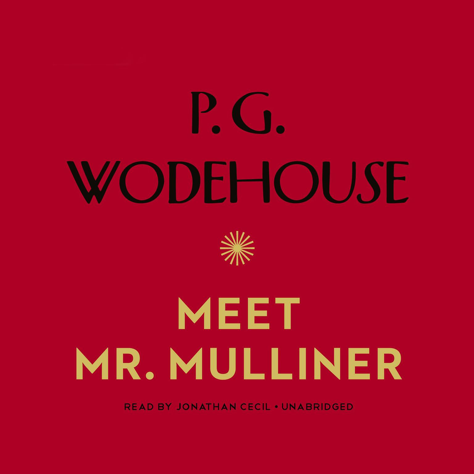 Printable Meet Mr. Mulliner Audiobook Cover Art