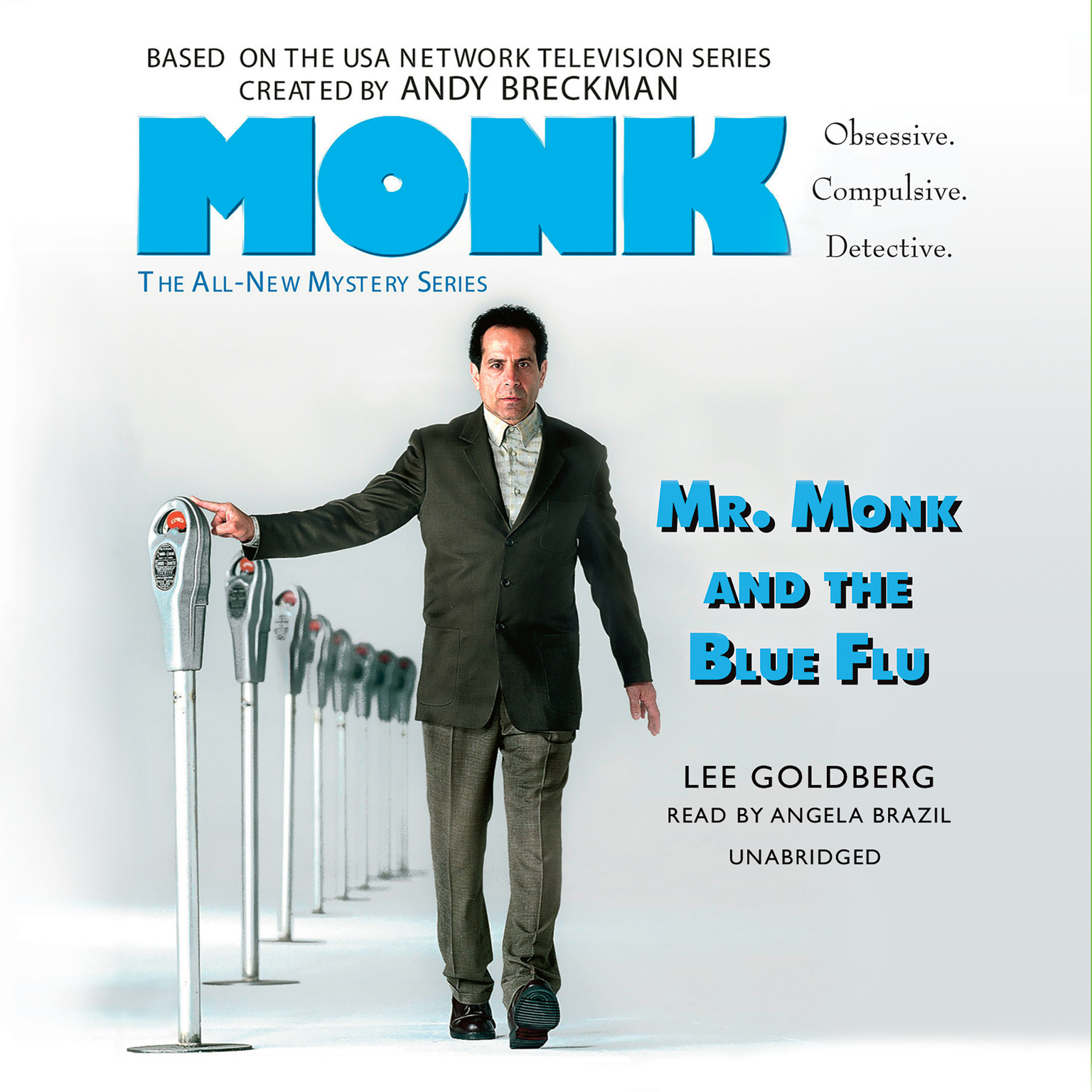 Printable Mr. Monk and the Blue Flu Audiobook Cover Art