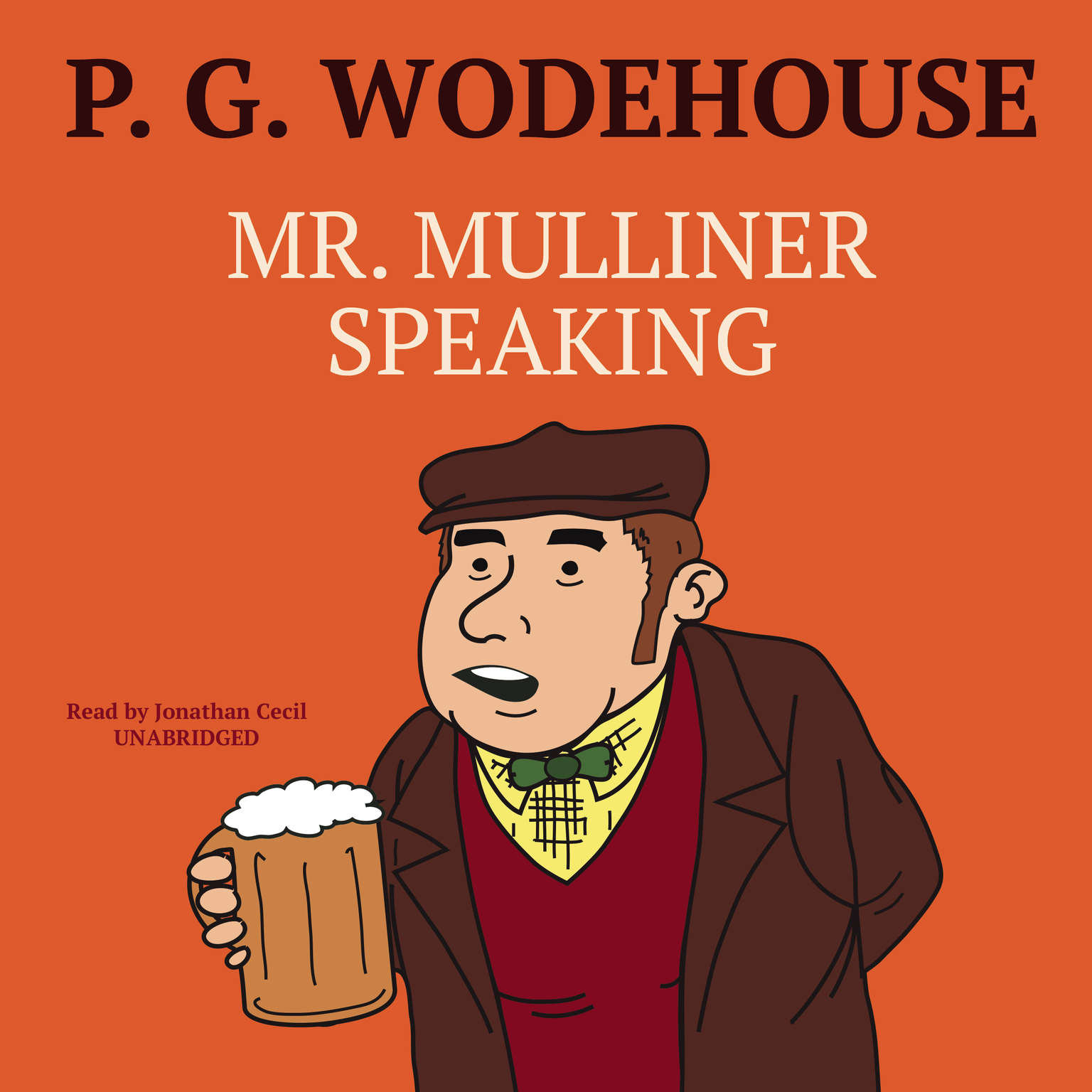 Printable Mr. Mulliner Speaking Audiobook Cover Art