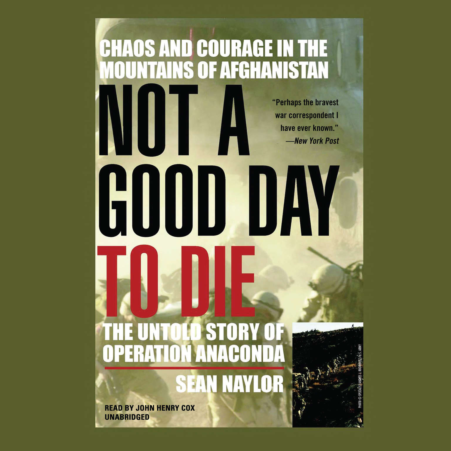 Printable Not a Good Day to Die: The Untold Story of Operation Anaconda Audiobook Cover Art