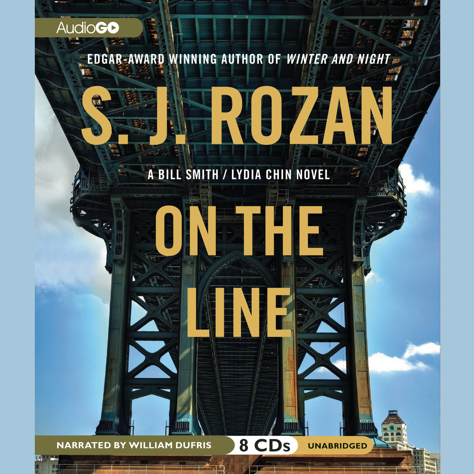 Printable On the Line Audiobook Cover Art