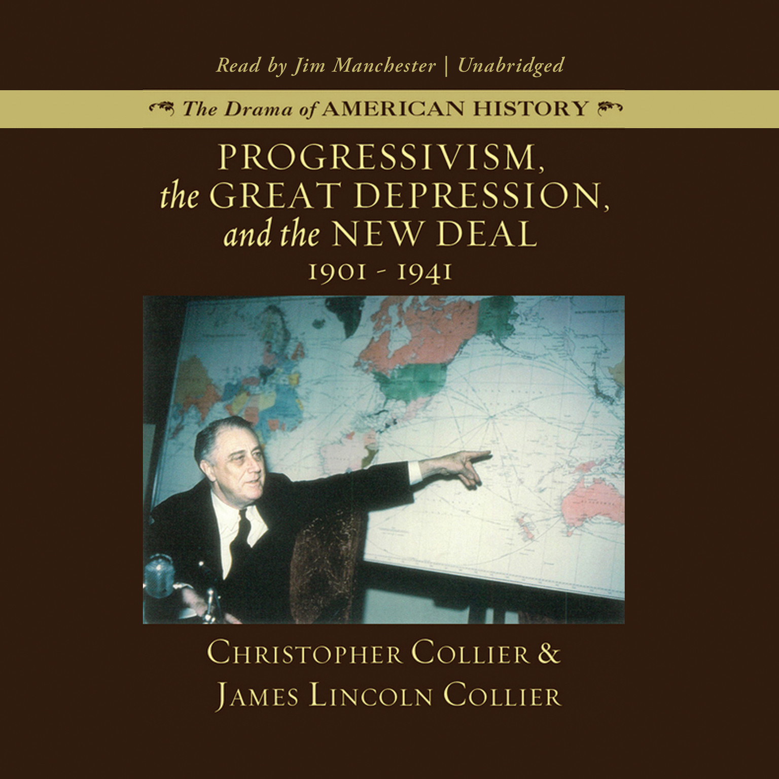 Printable Progressivism, the Great Depression, and the New Deal: 1901–1941 Audiobook Cover Art