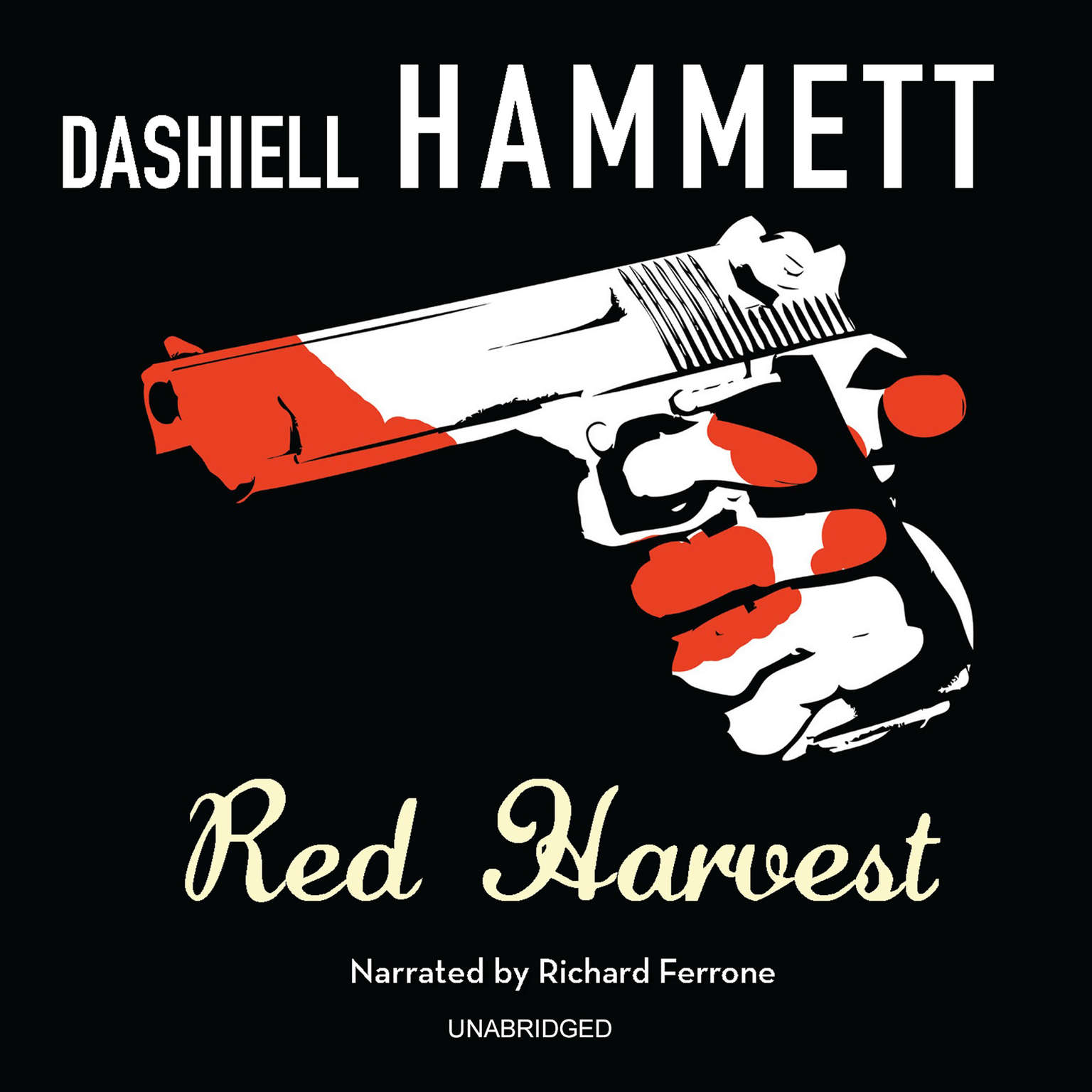 Printable Red Harvest Audiobook Cover Art