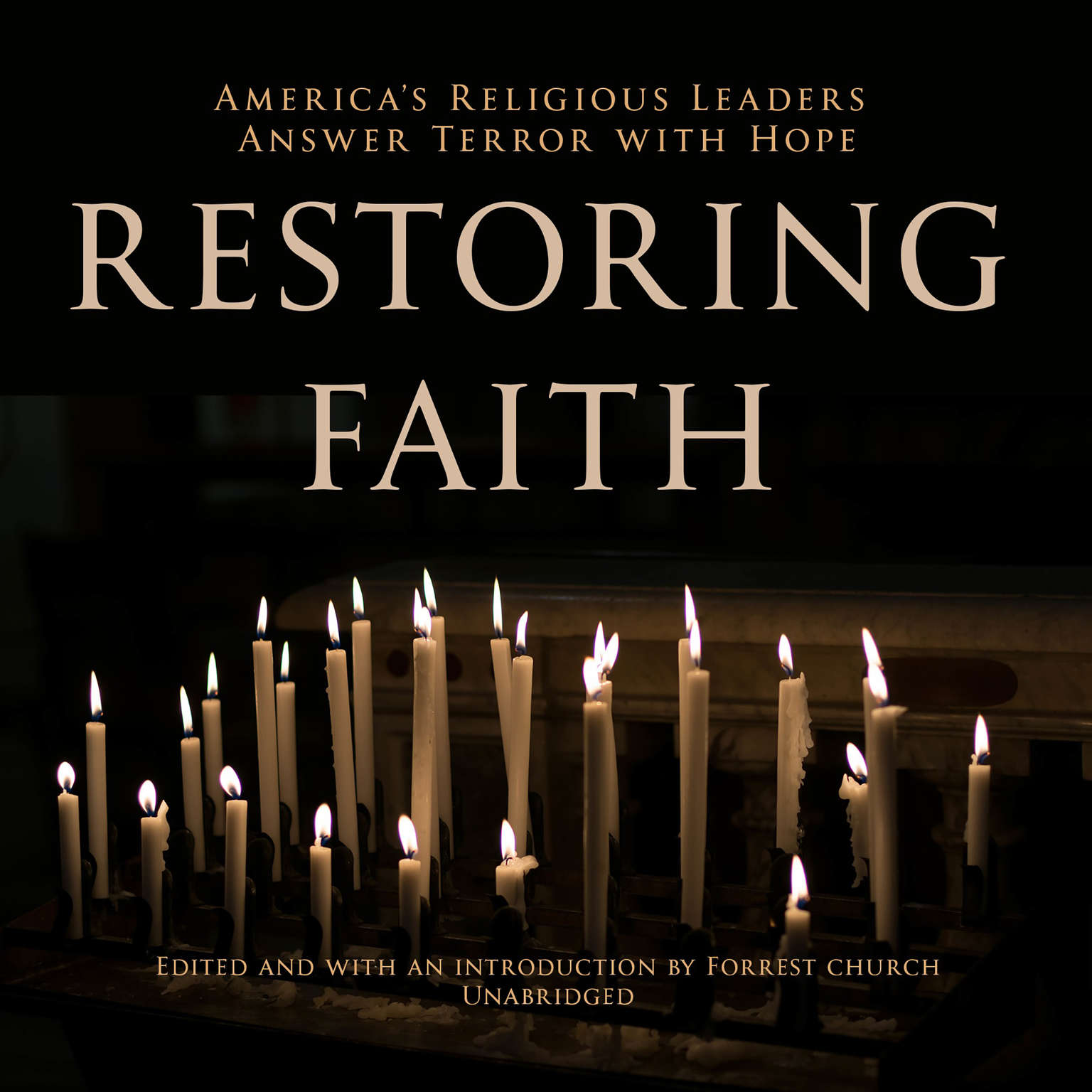 Printable Restoring Faith: America's Religious Leaders Answer Terror with Hope Audiobook Cover Art