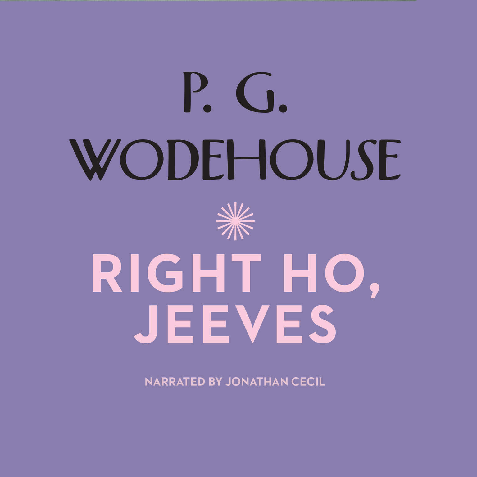 Printable Right Ho, Jeeves Audiobook Cover Art