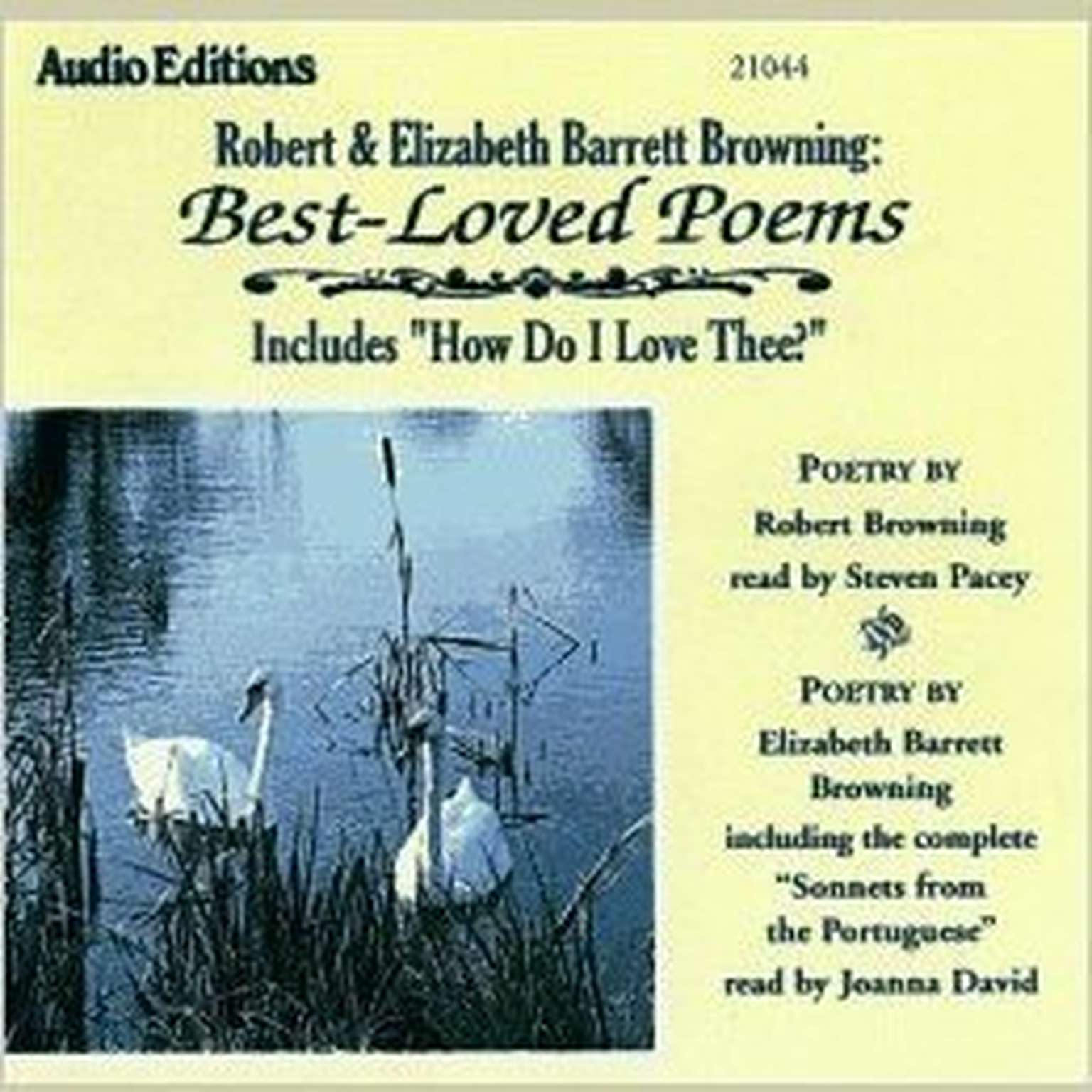 Printable Robert and Elizabeth Barrett Browning: Best-Loved Poems Audiobook Cover Art