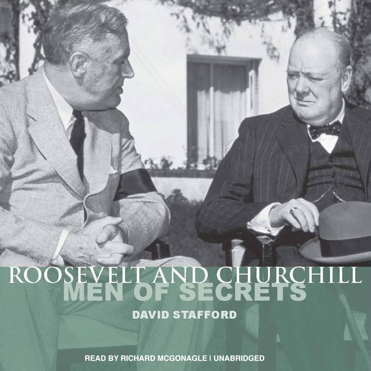Printable Roosevelt and Churchill: Men of Secrets Audiobook Cover Art