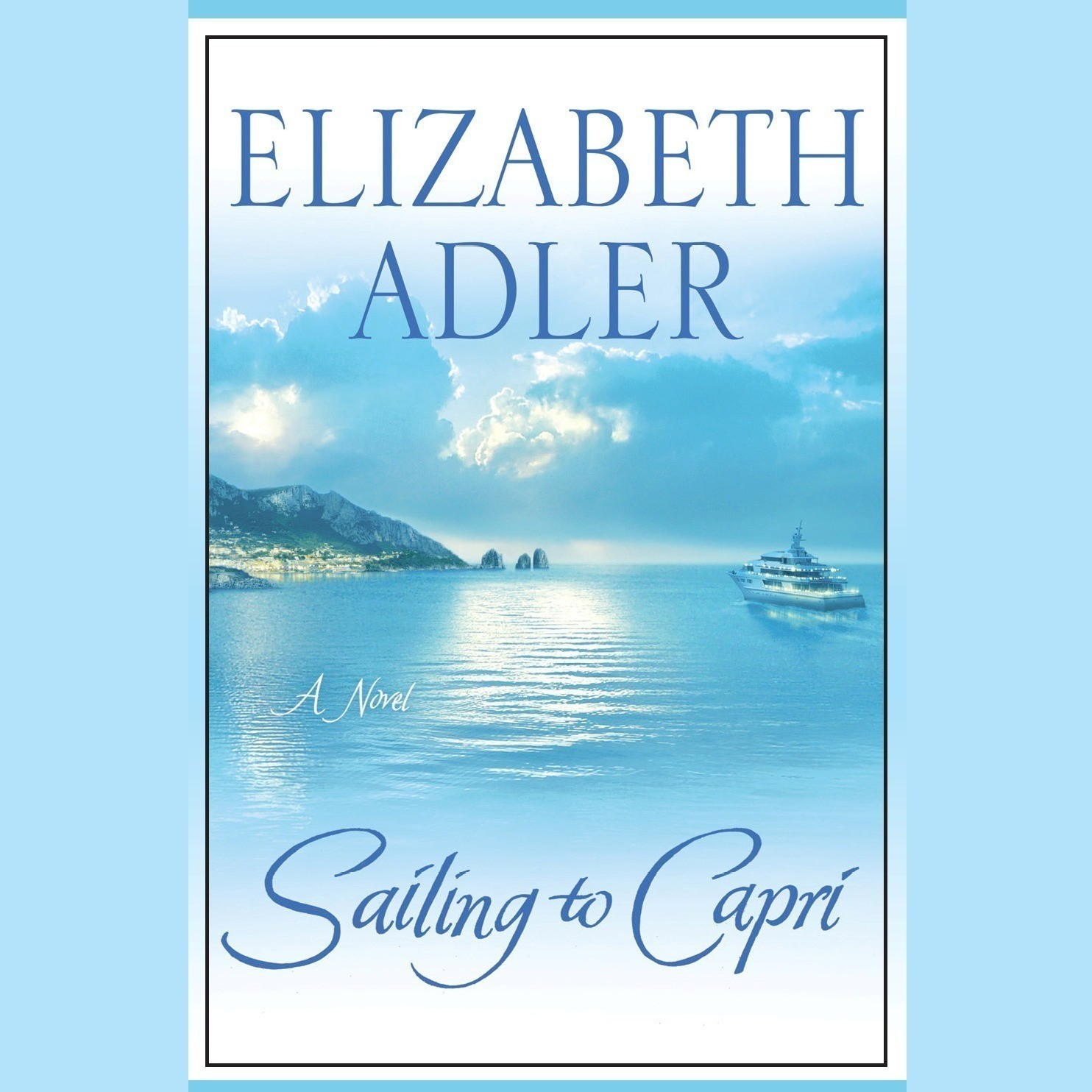 Printable Sailing to Capri Audiobook Cover Art