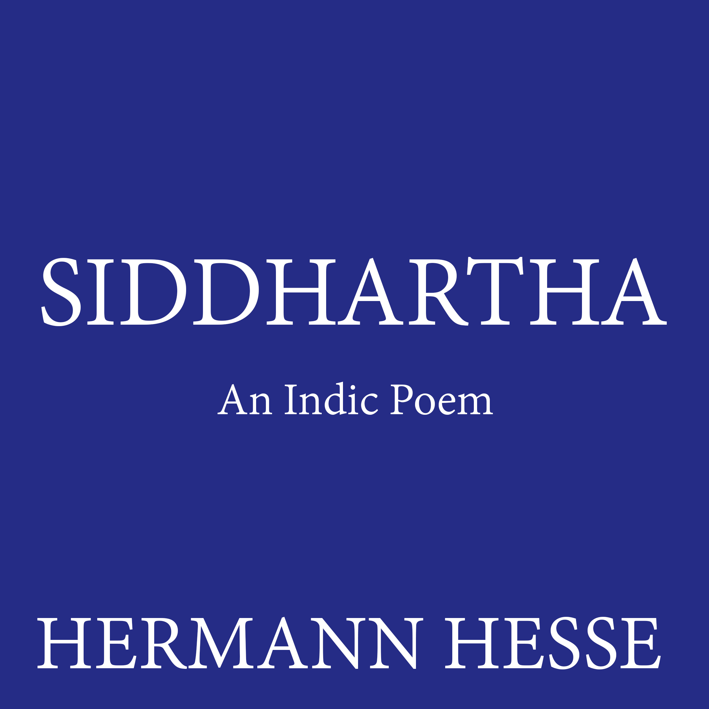 Printable Siddhartha: An Indic Poem Audiobook Cover Art