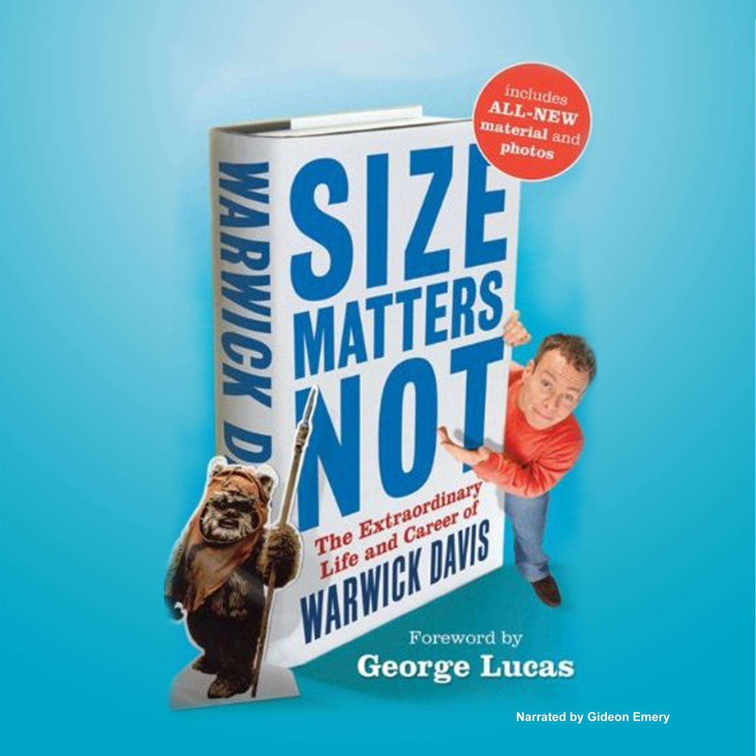Printable Size Matters Not: The Extraordinary Life and Career of Warwick Davis Audiobook Cover Art