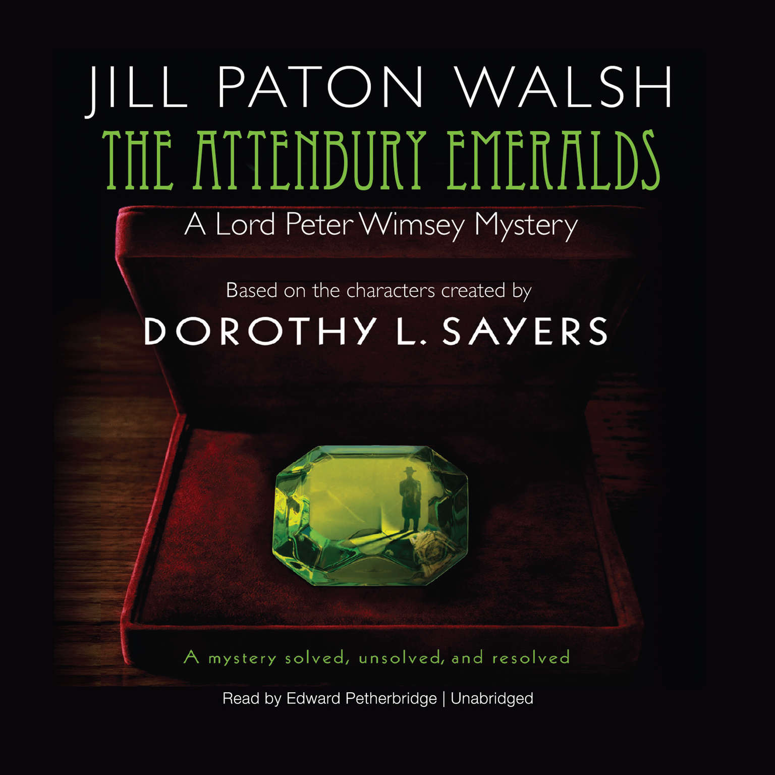 Printable The Attenbury Emeralds Audiobook Cover Art