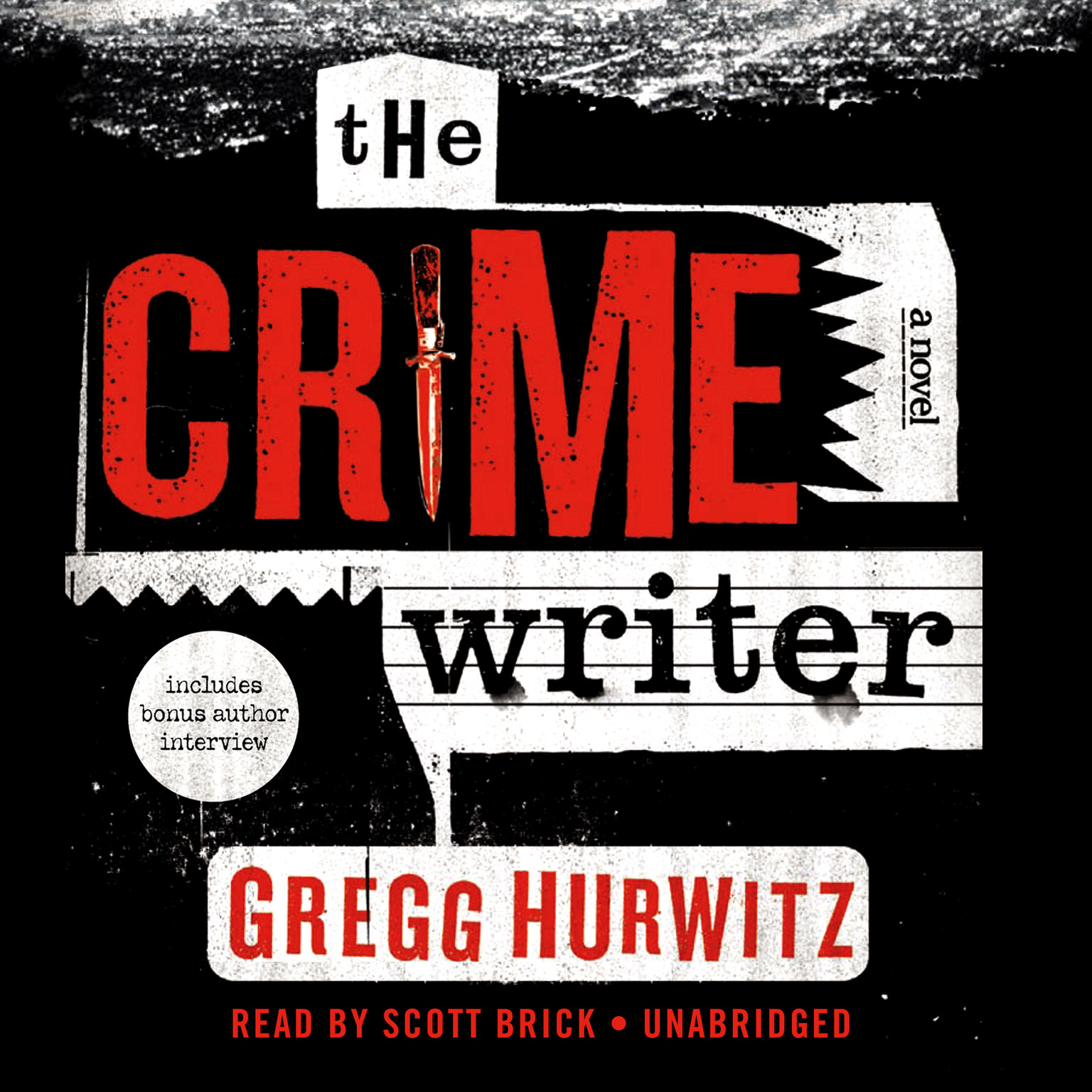 Printable The Crime Writer Audiobook Cover Art