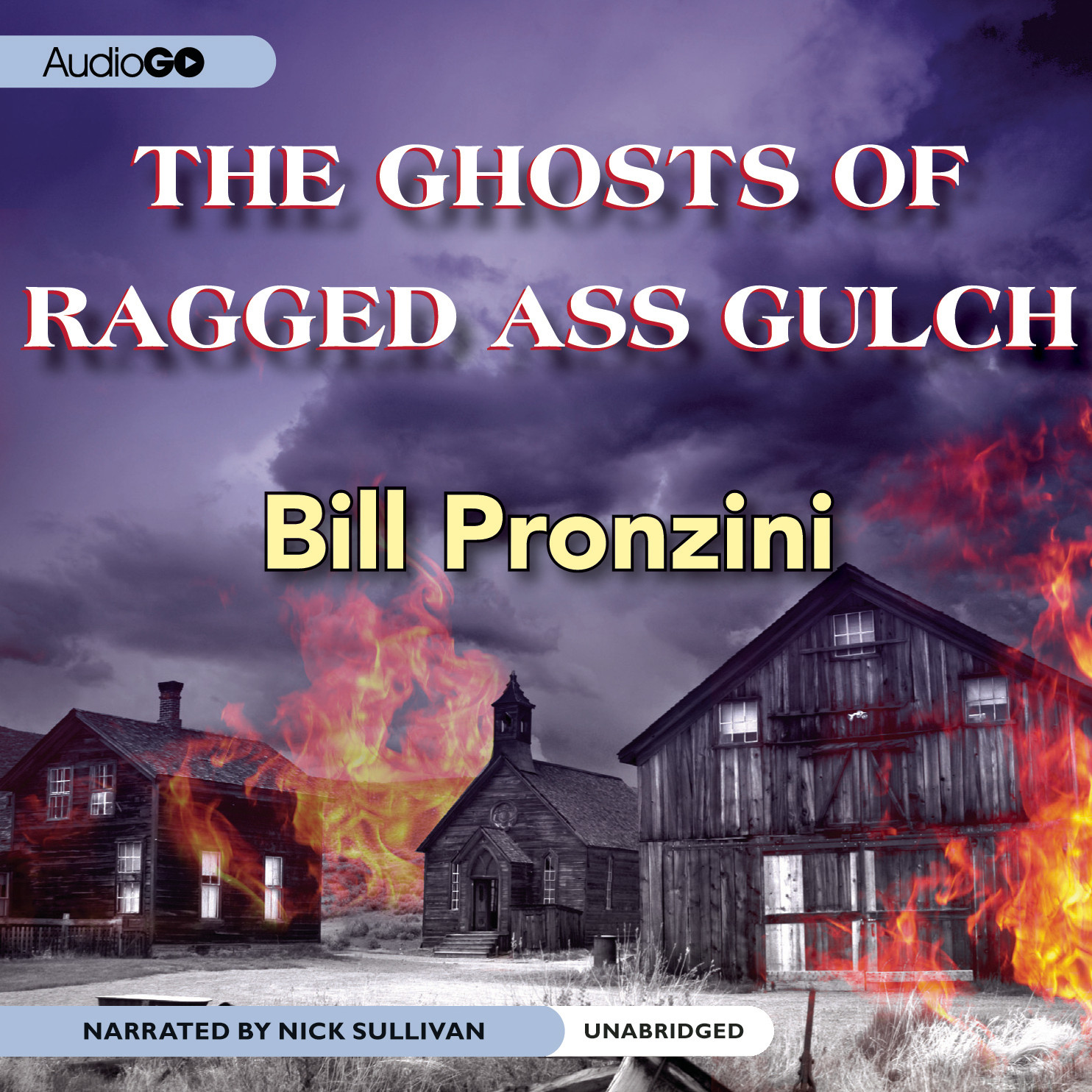 Printable The Ghosts of Ragged-Ass Gulch Audiobook Cover Art