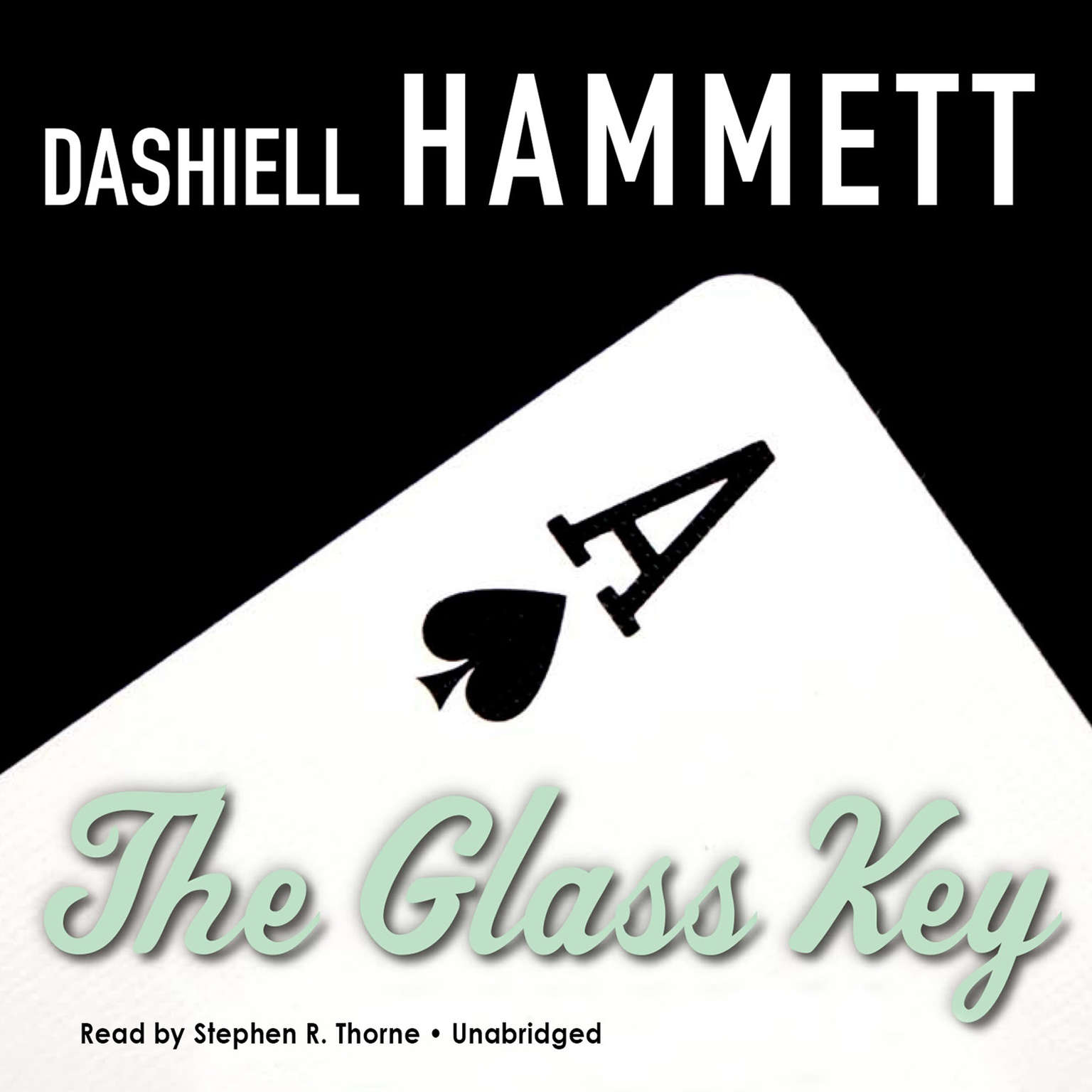 Printable The Glass Key Audiobook Cover Art