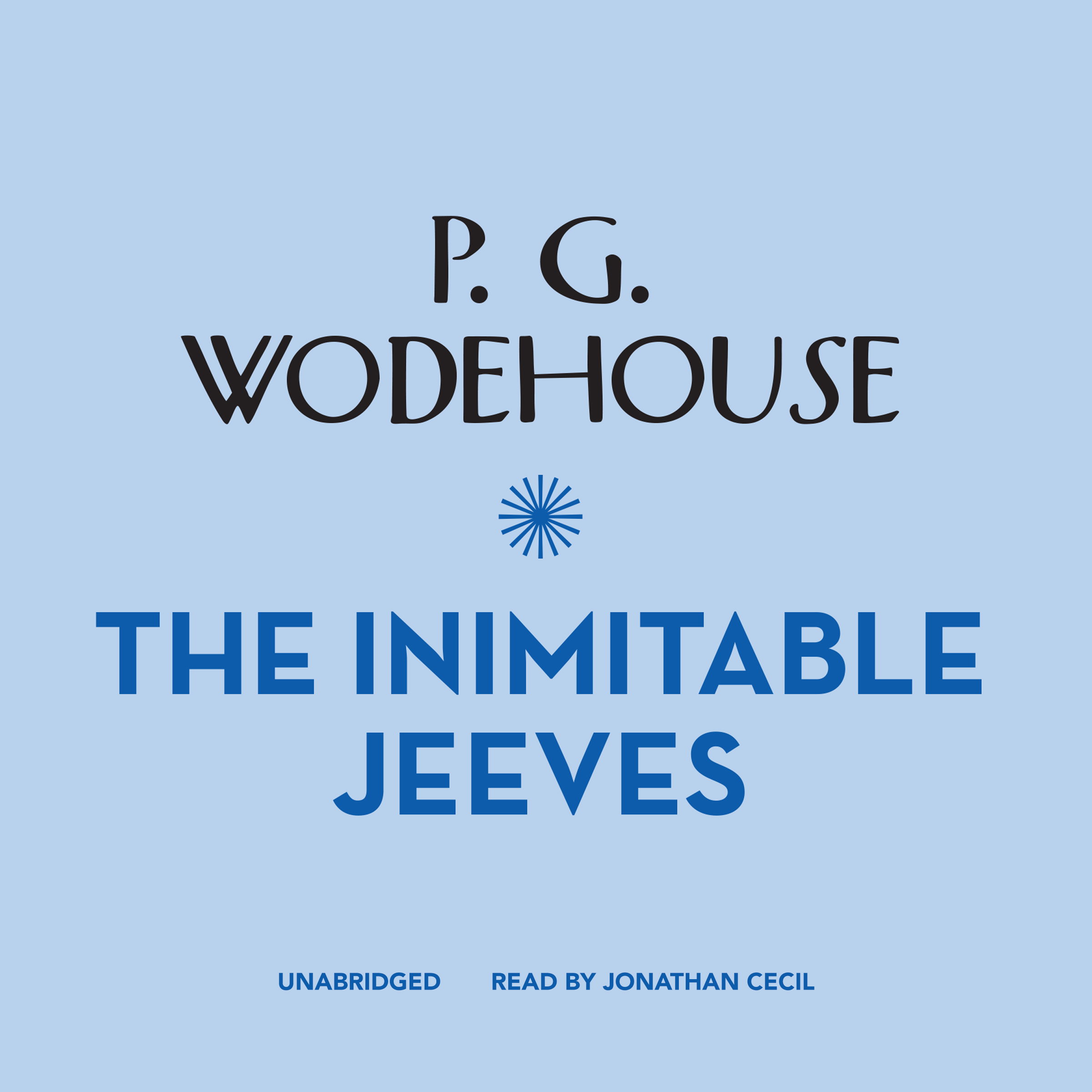Printable The Inimitable Jeeves Audiobook Cover Art