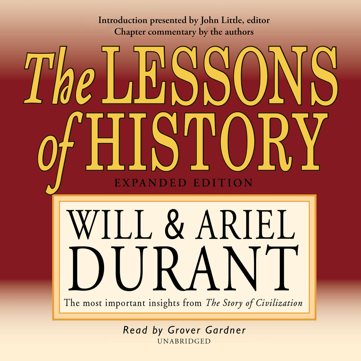 Printable The Lessons of History Audiobook Cover Art