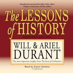 The Lessons of History Audiobook, by Ariel Durant, Will Durant