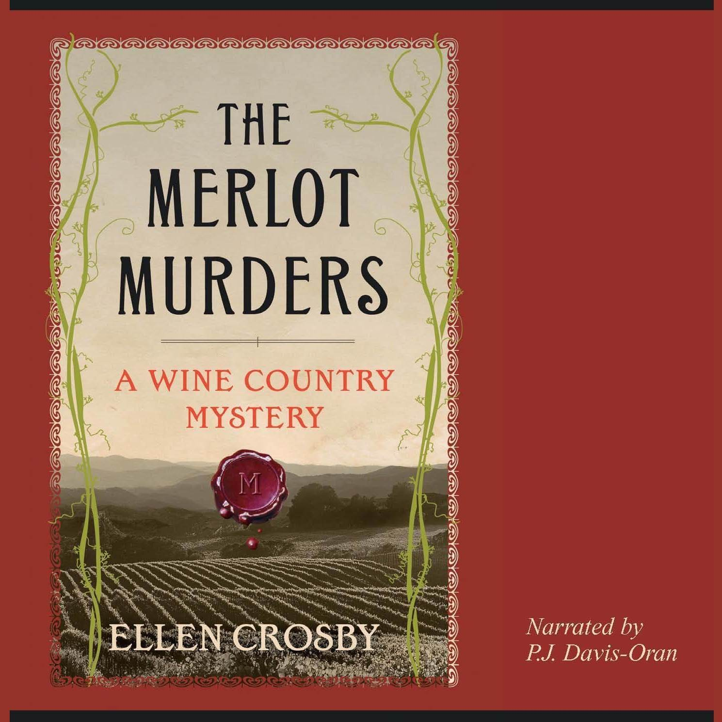 Printable The Merlot Murders Audiobook Cover Art