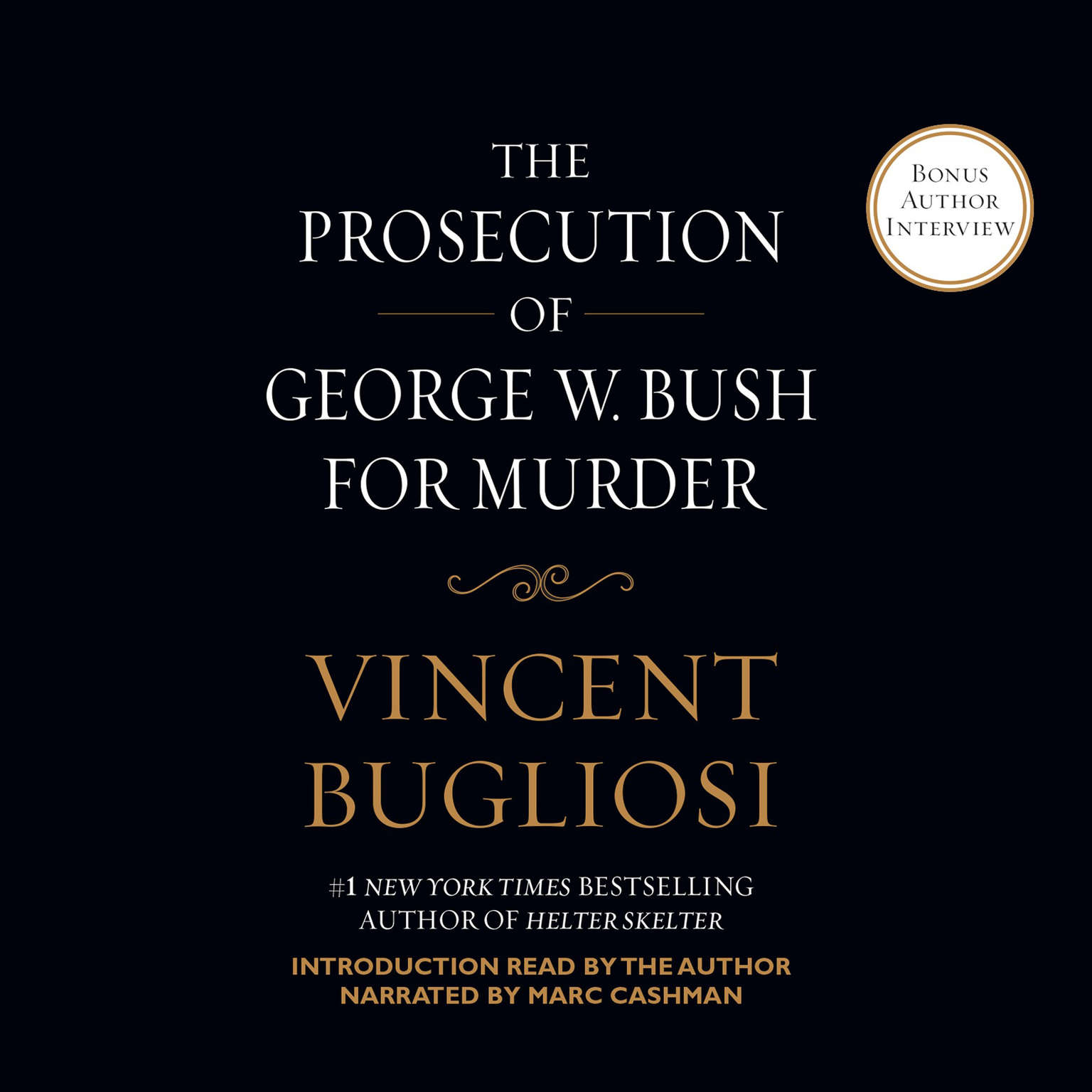 Printable The Prosecution of George W. Bush for Murder Audiobook Cover Art