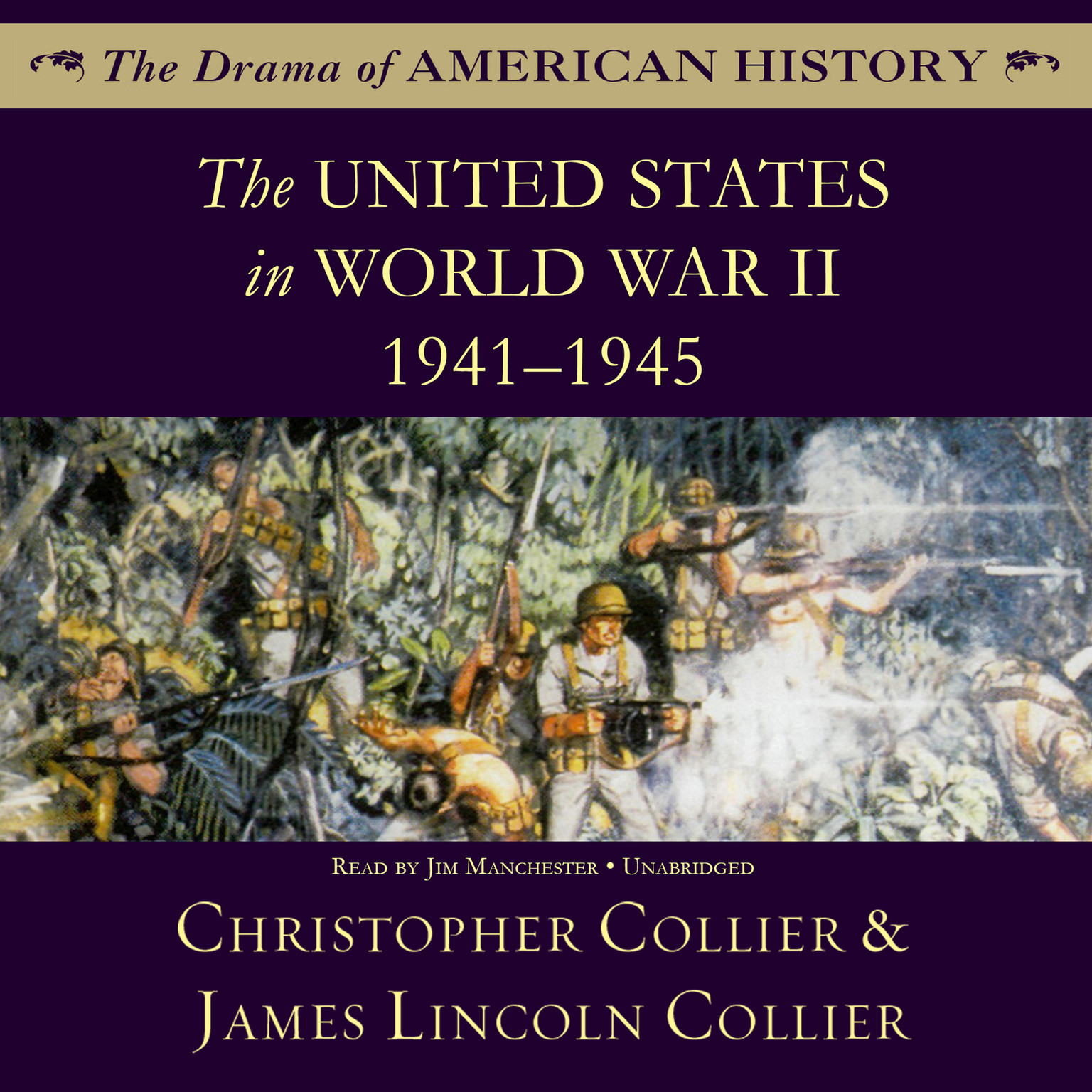 Printable The United States in World War II: 1941–1945 Audiobook Cover Art