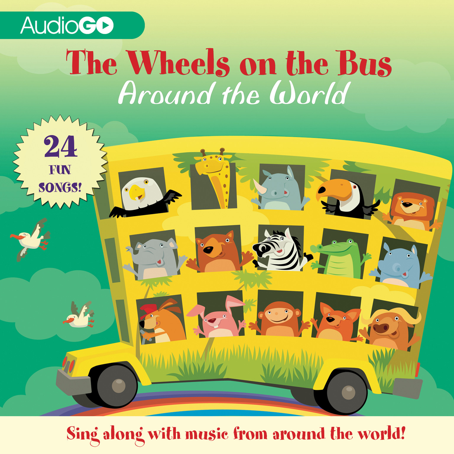 Printable The Wheels on the Bus Around the World Audiobook Cover Art