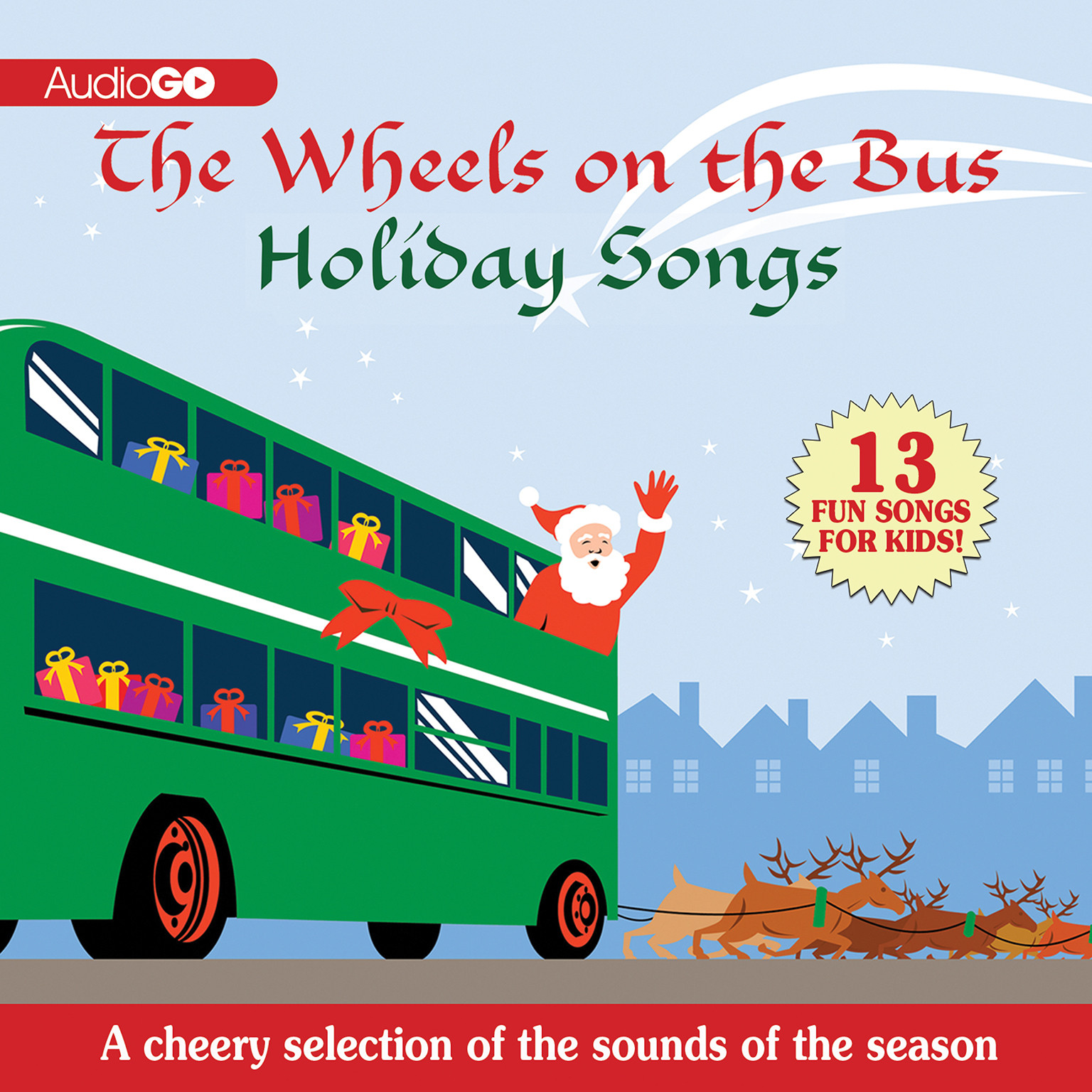Printable The Wheels on the Bus Holiday Songs Audiobook Cover Art