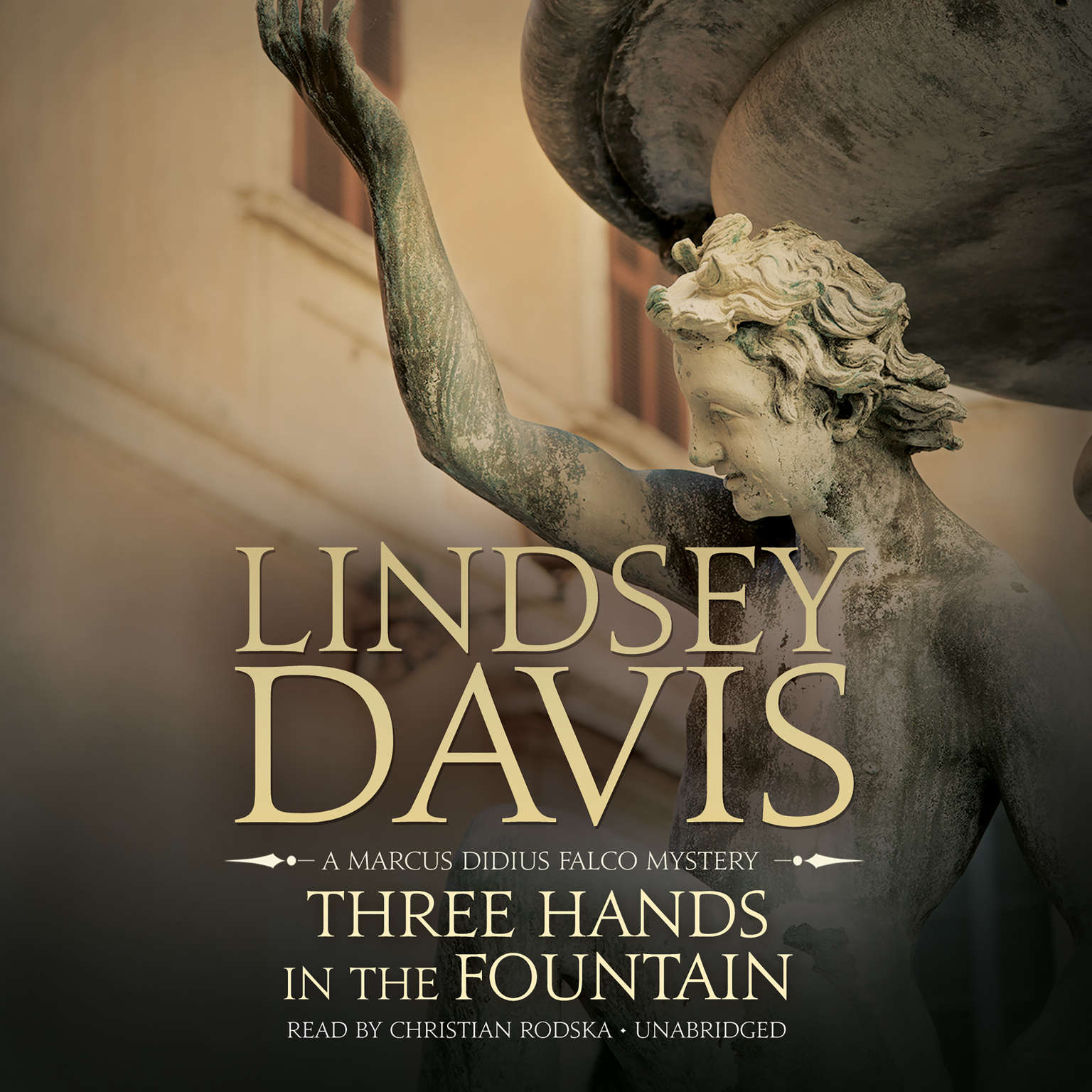 Printable Three Hands in the Fountain: A Marcus Didius Falco Mystery Audiobook Cover Art