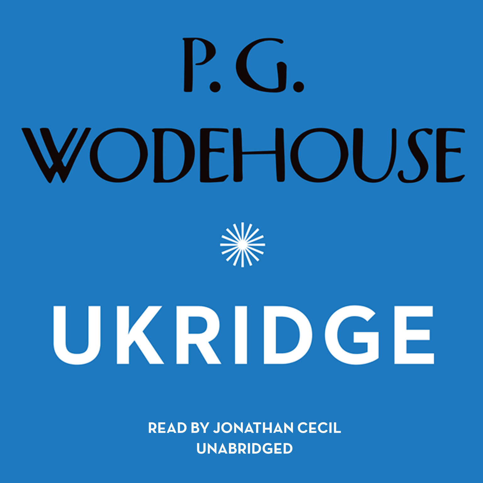 Printable Ukridge Audiobook Cover Art