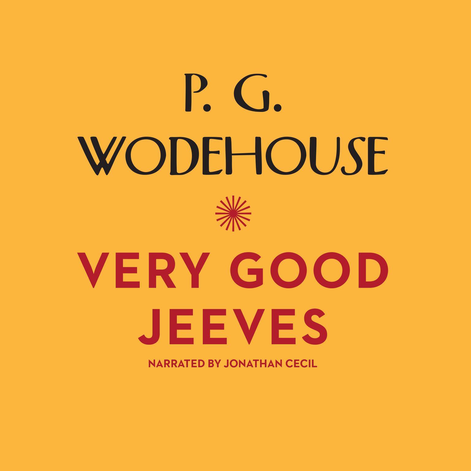 Printable Very Good, Jeeves Audiobook Cover Art