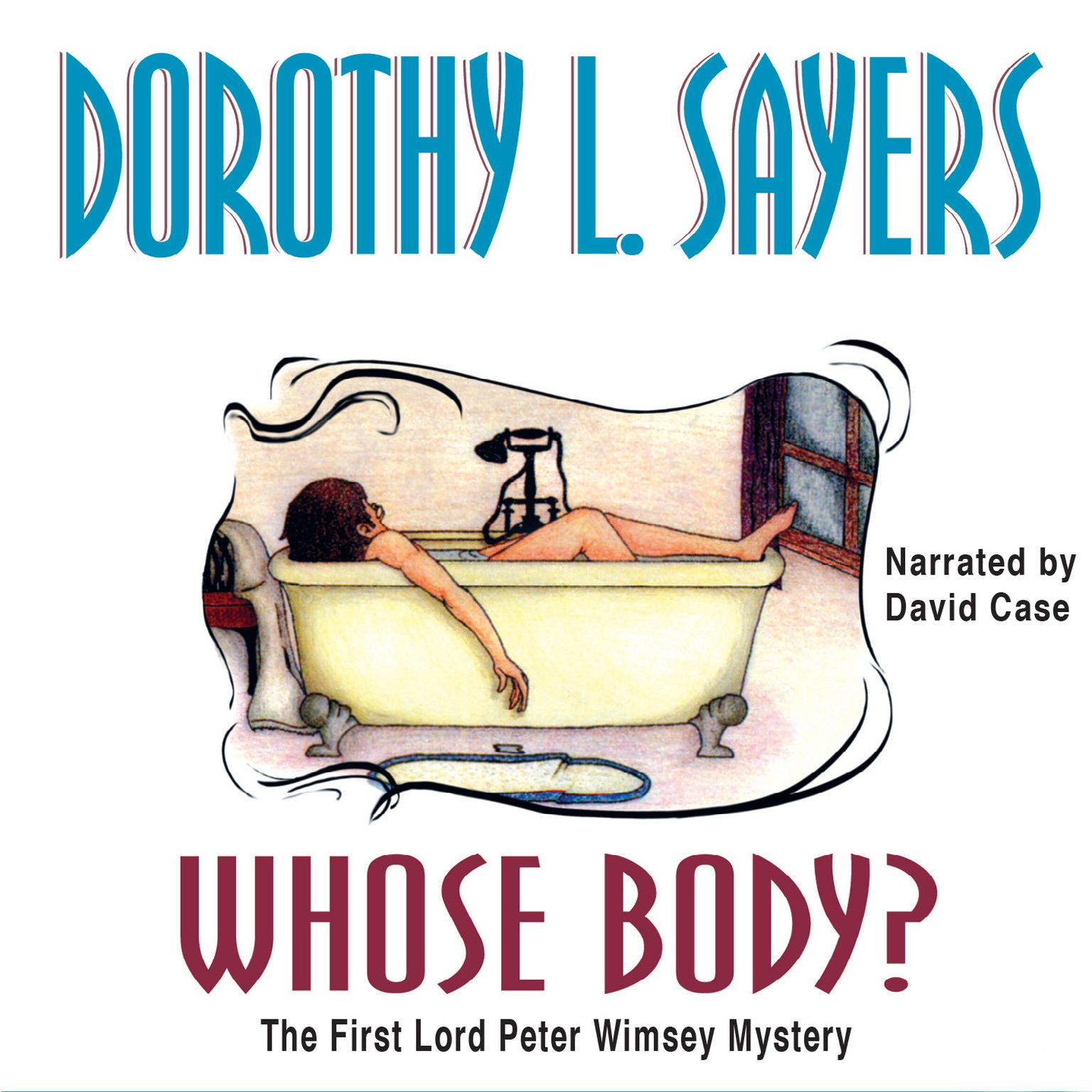 Printable Whose Body? Audiobook Cover Art