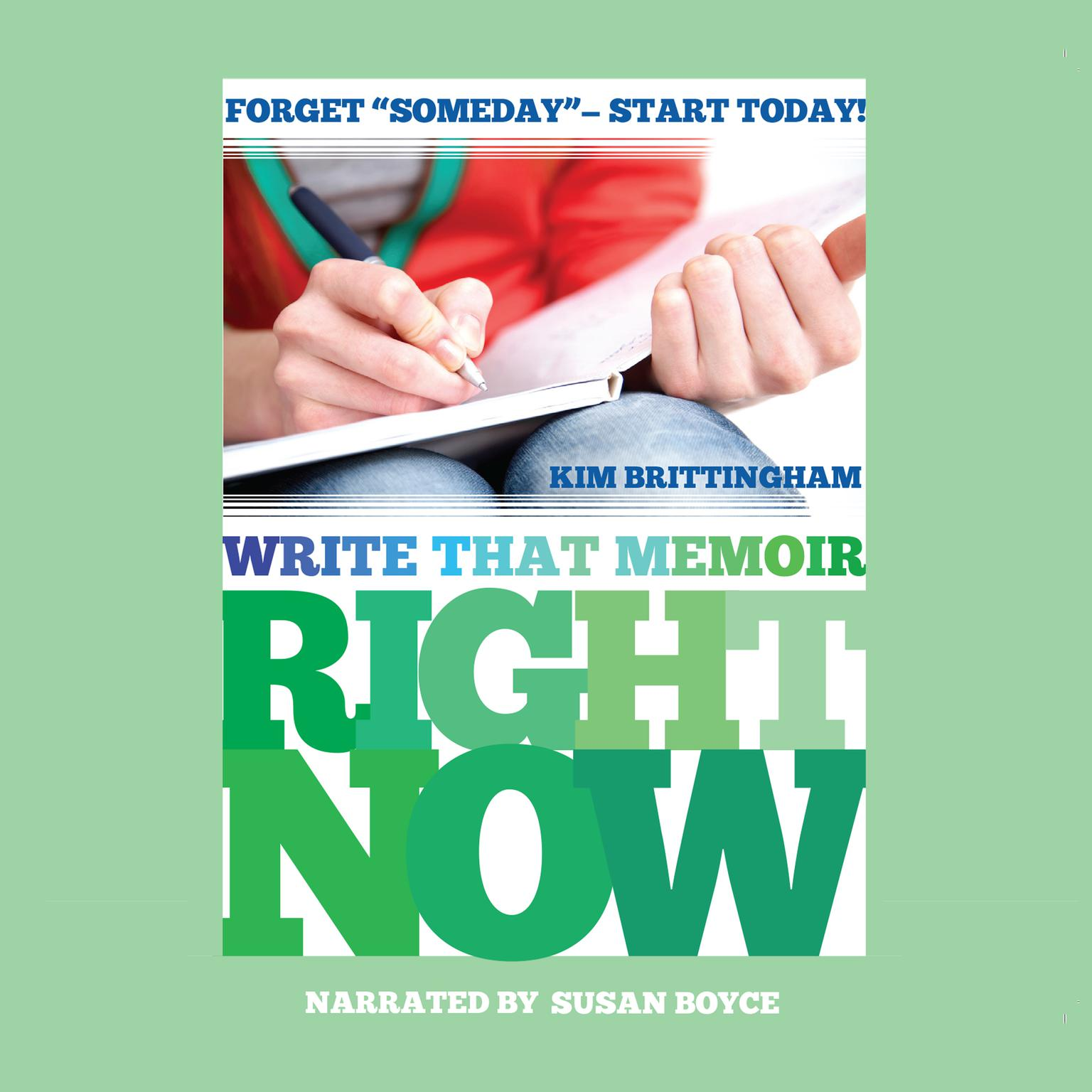 Printable Write That Memoir Right Now Audiobook Cover Art