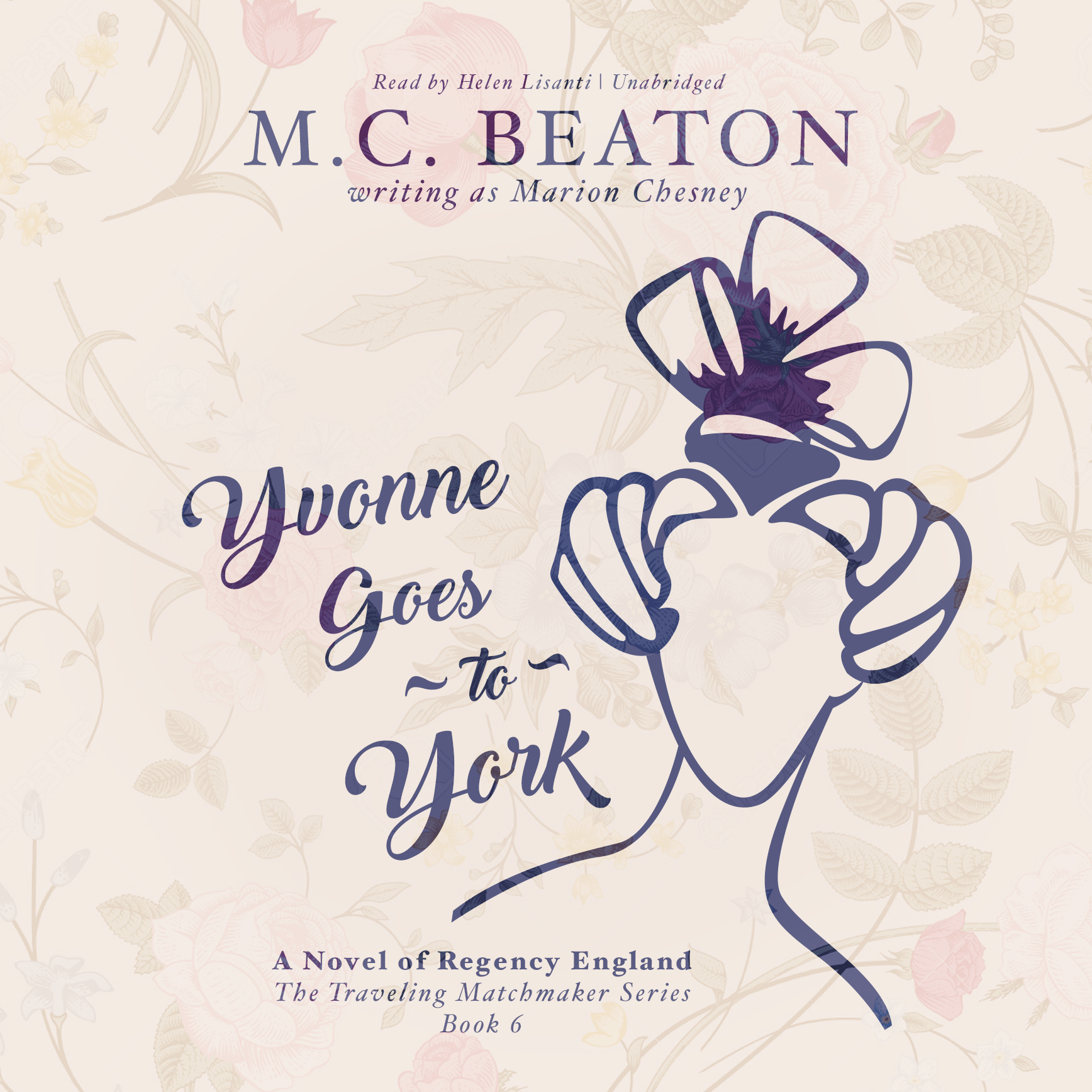 Printable Yvonne Goes to York: A Novel of Regency England Audiobook Cover Art