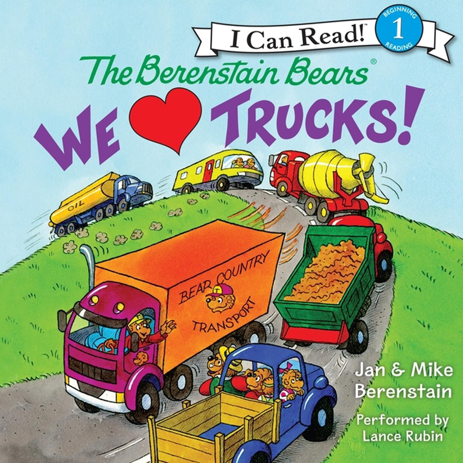 Printable The Berenstain Bears: We Love Trucks! Audiobook Cover Art