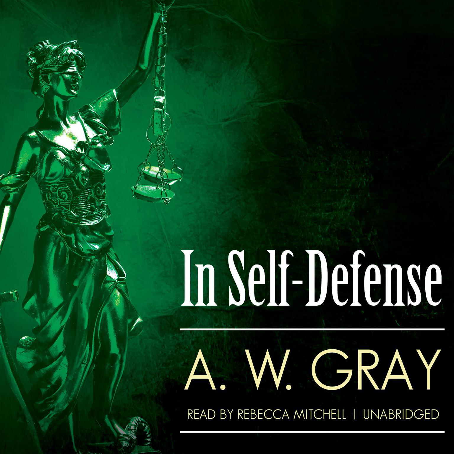 Printable In Self-Defense Audiobook Cover Art