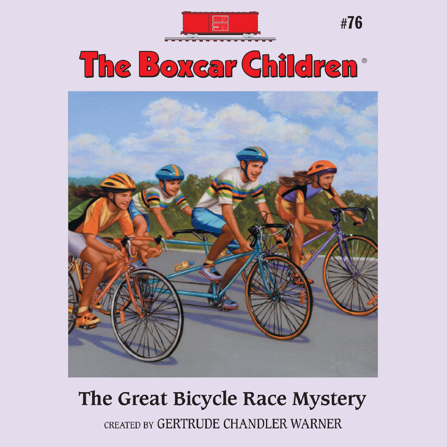 Printable The Great Bicycle Race Mystery Audiobook Cover Art