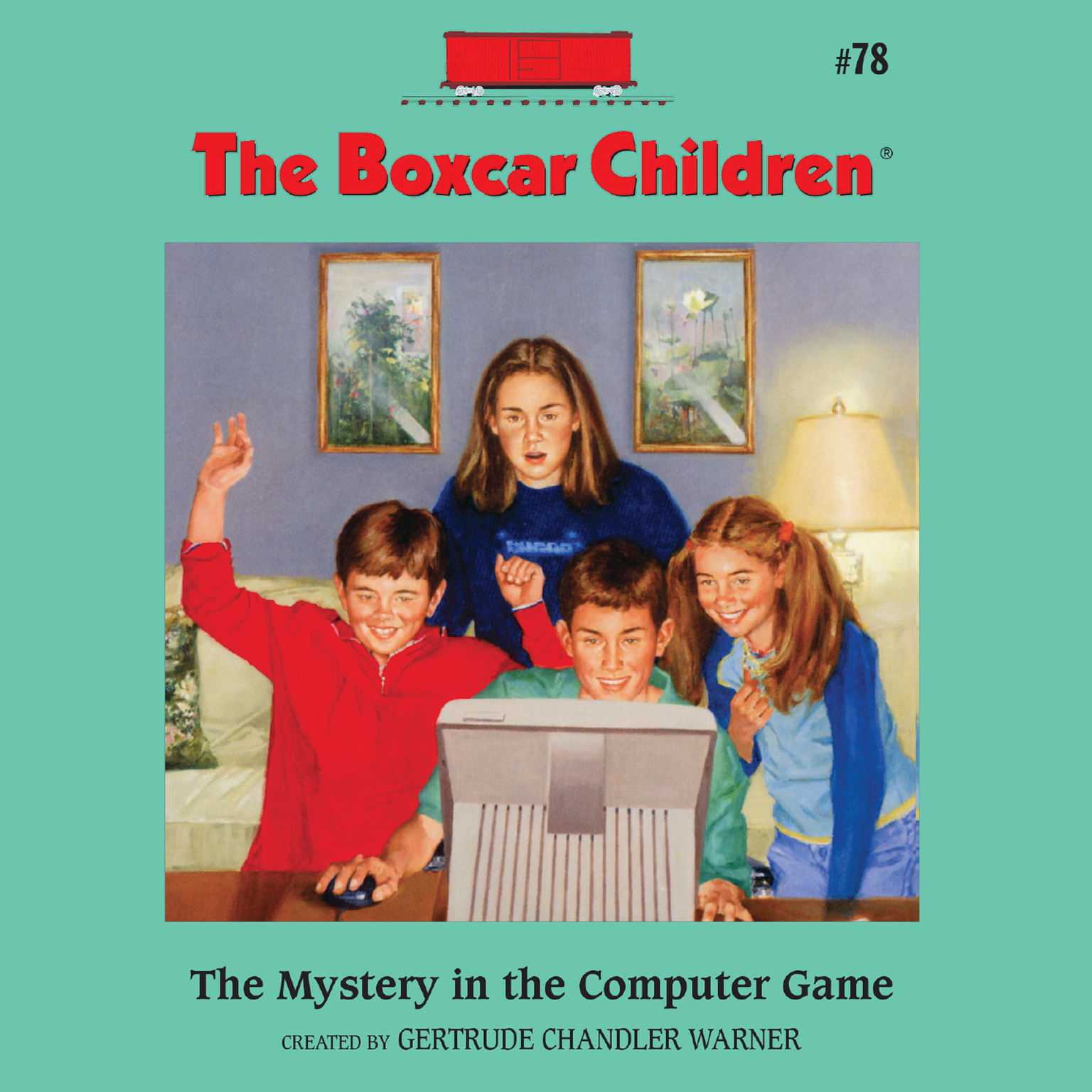 Printable The Mystery in the Computer Game Audiobook Cover Art