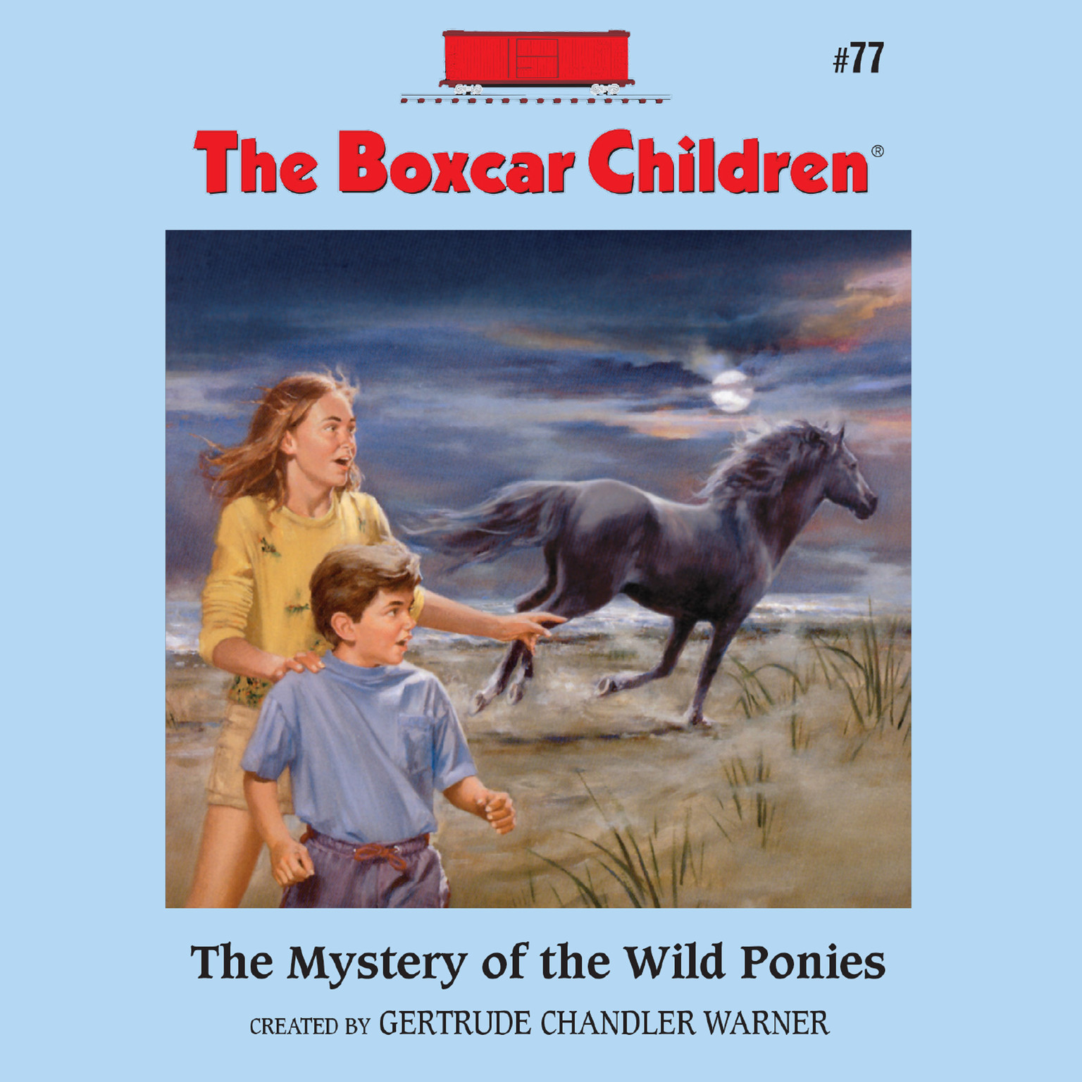 Printable The Mystery of the Wild Ponies Audiobook Cover Art