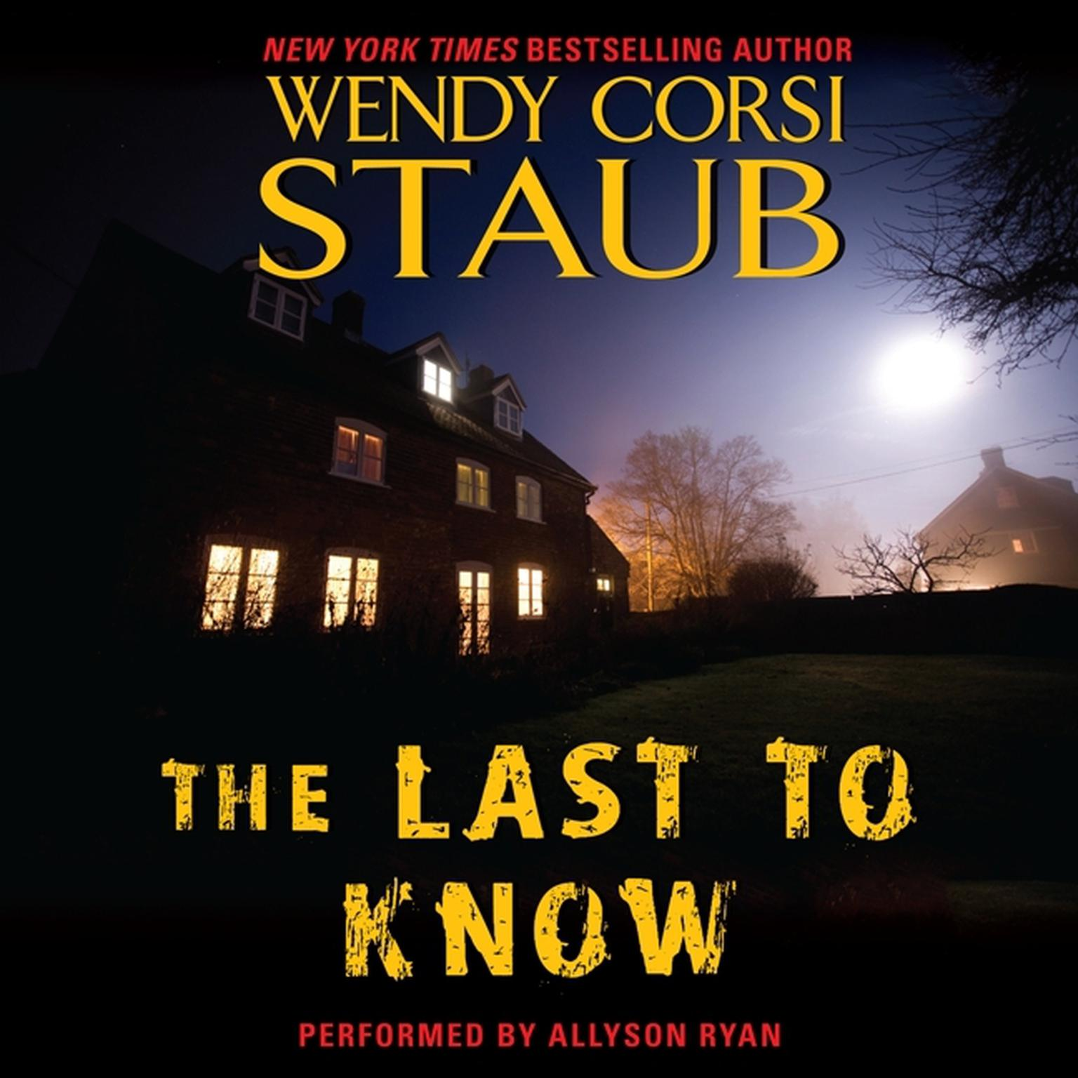 Printable The Last to Know Audiobook Cover Art