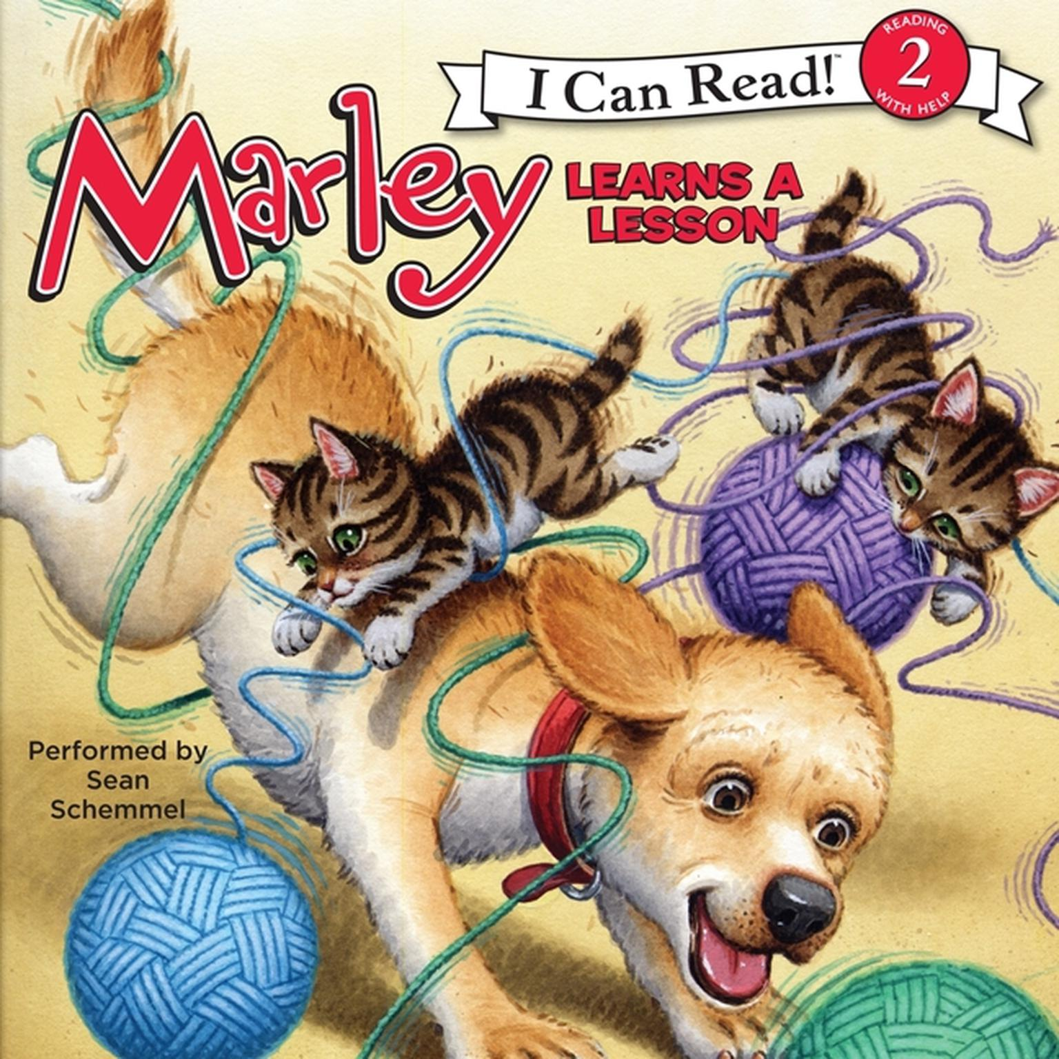 Printable Marley: Marley Learns a Lesson Audiobook Cover Art