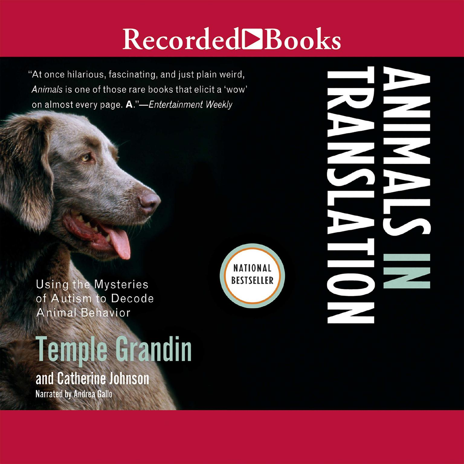 Printable Animals in Translation: Using the Mysteries of Autism to Decode Animal Behavior Audiobook Cover Art