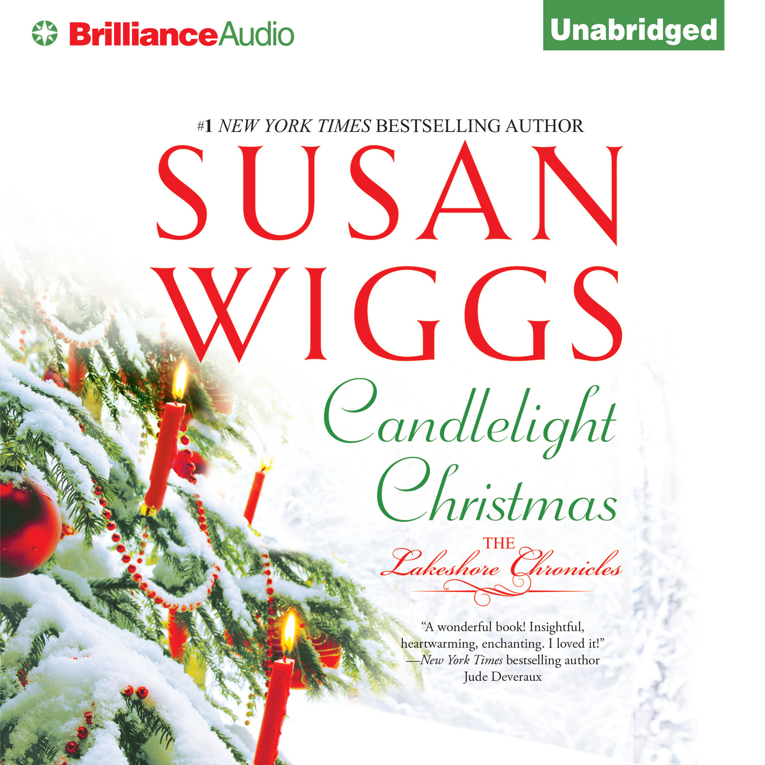 Printable Candlelight Christmas Audiobook Cover Art